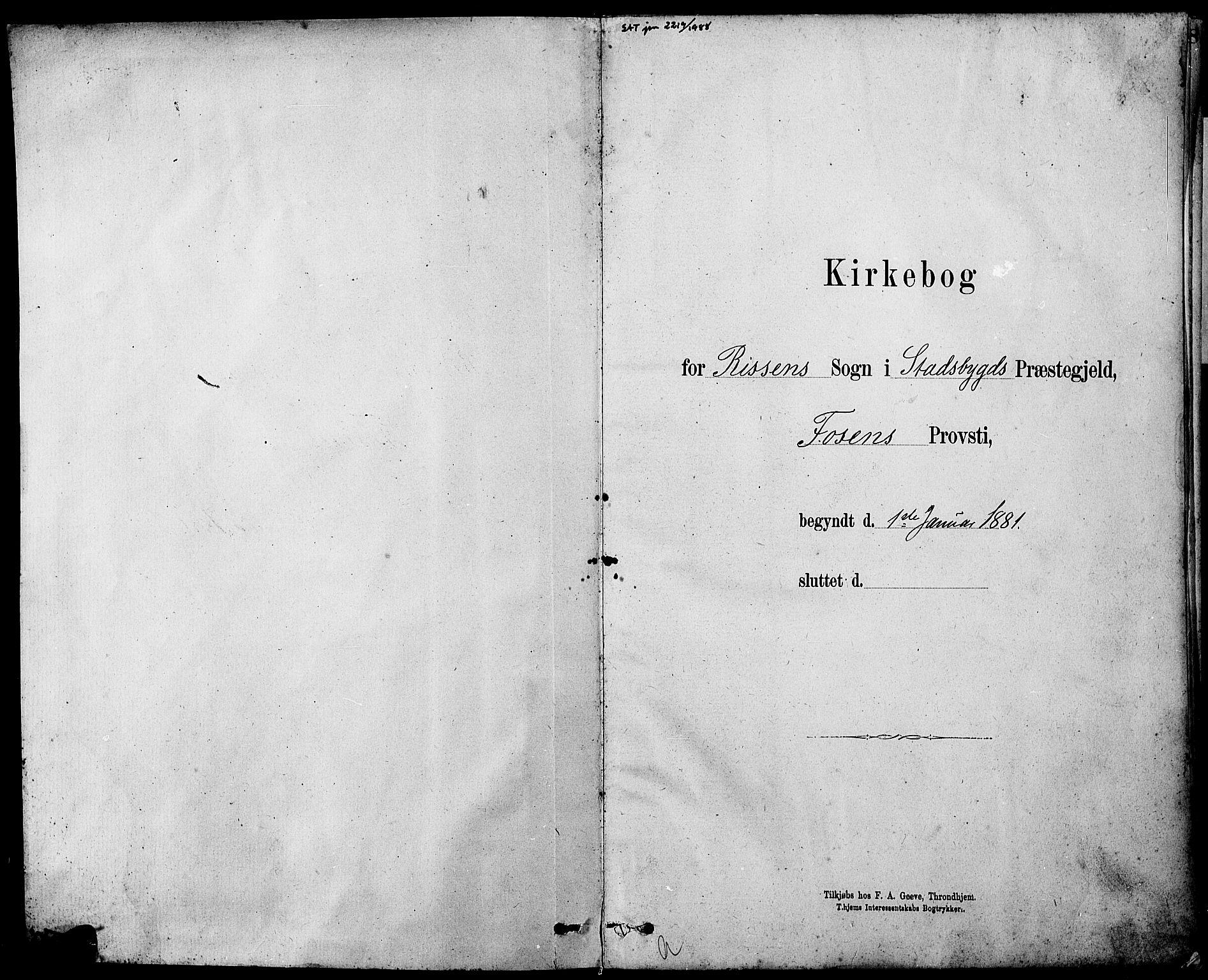SAT, Ministerialprotokoller, klokkerbøker og fødselsregistre - Sør-Trøndelag, 647/L0636: Parish register (copy) no. 647C01, 1881-1884