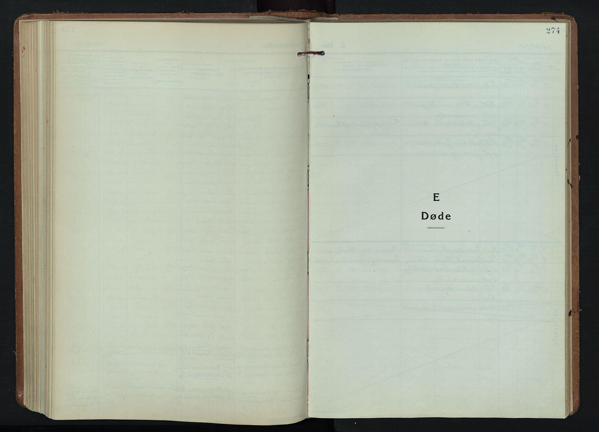 SAH, Fåberg prestekontor, H/Ha/Hab/L0015: Parish register (copy) no. 15, 1924-1949, p. 274