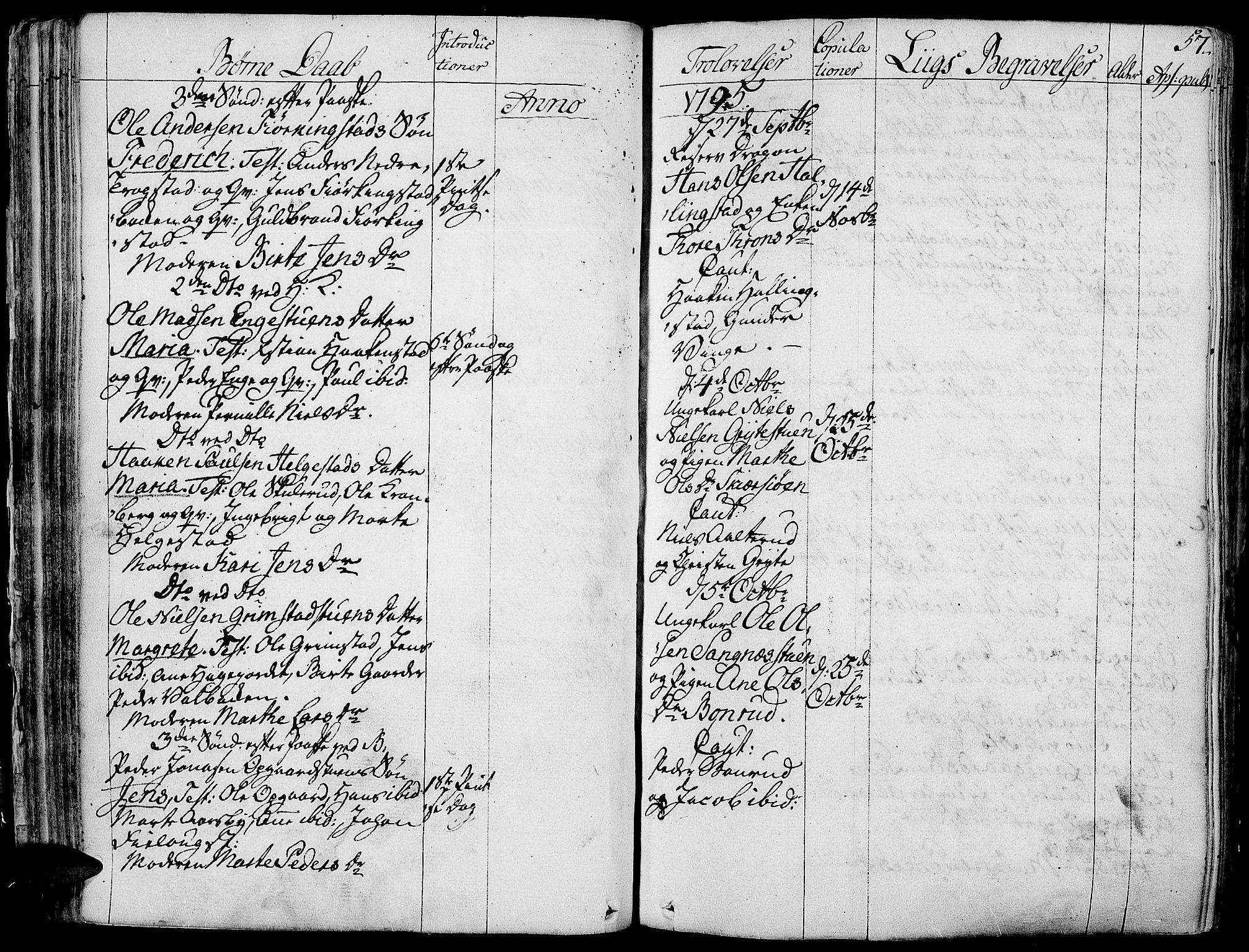 SAH, Toten prestekontor, Parish register (official) no. 7, 1794-1809, p. 57