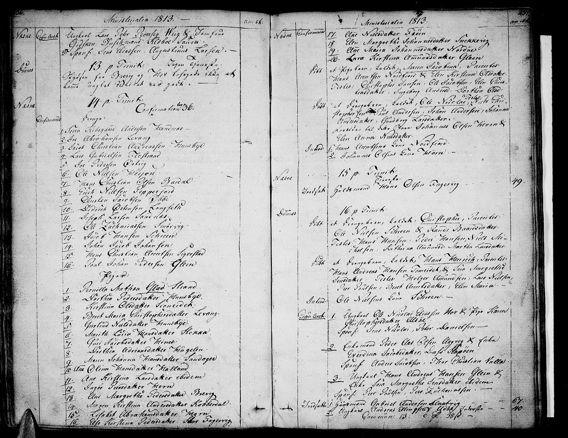 SAT, Ministerialprotokoller, klokkerbøker og fødselsregistre - Nordland, 838/L0545: Parish register (official) no. 838A04, 1791-1820, p. 236-237