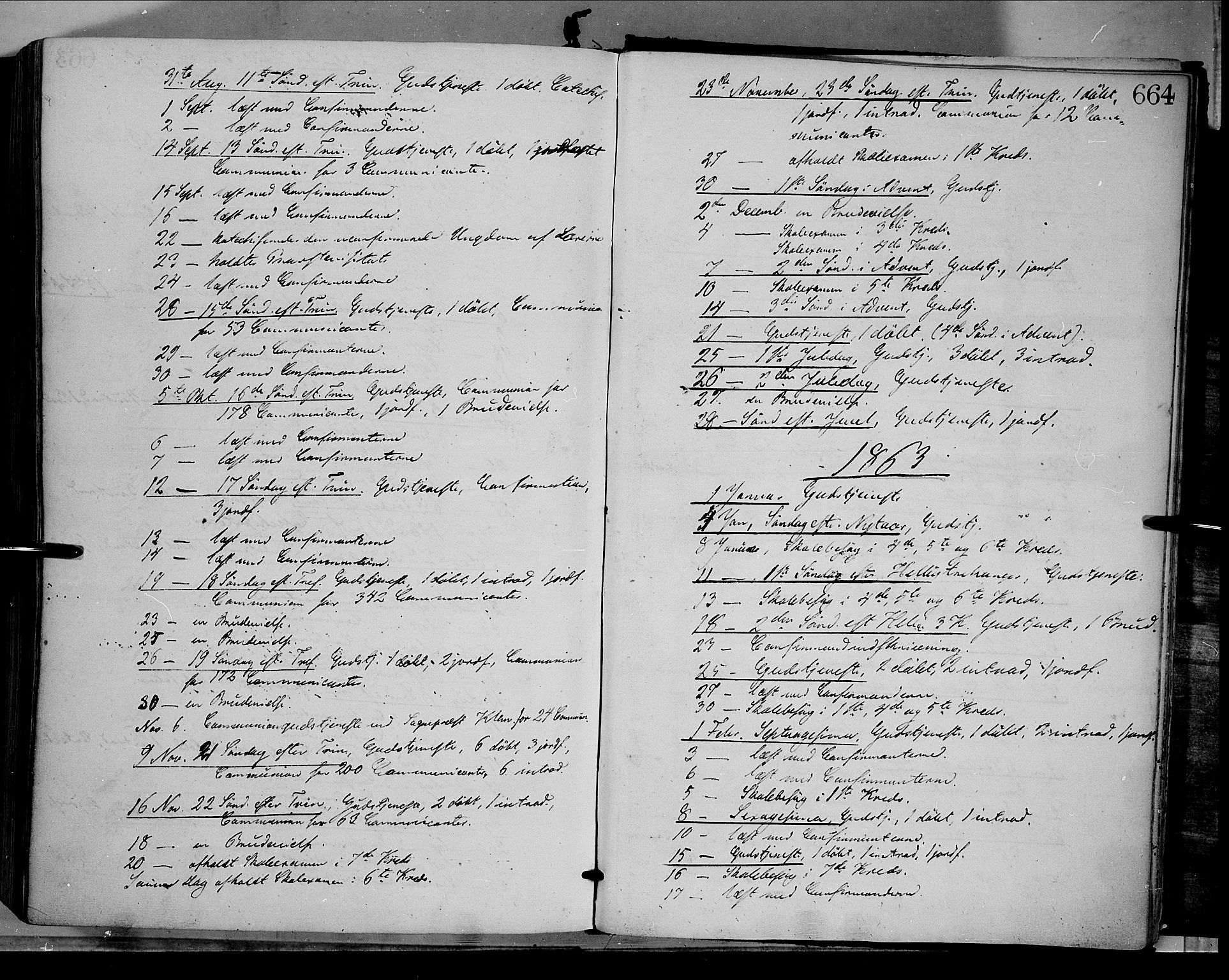 SAH, Dovre prestekontor, Parish register (official) no. 1, 1854-1878, p. 664