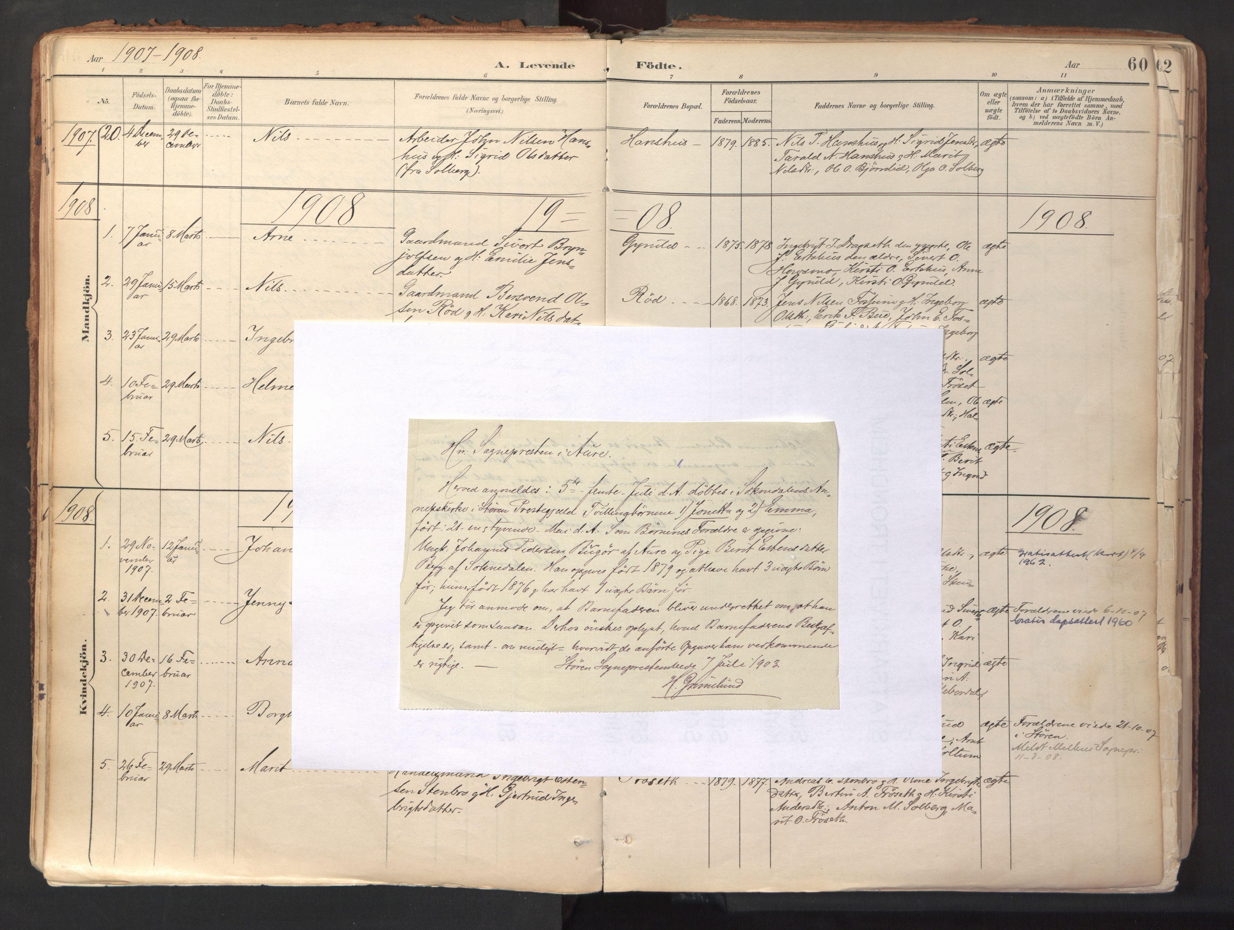 SAT, Ministerialprotokoller, klokkerbøker og fødselsregistre - Sør-Trøndelag, 689/L1041: Parish register (official) no. 689A06, 1891-1923