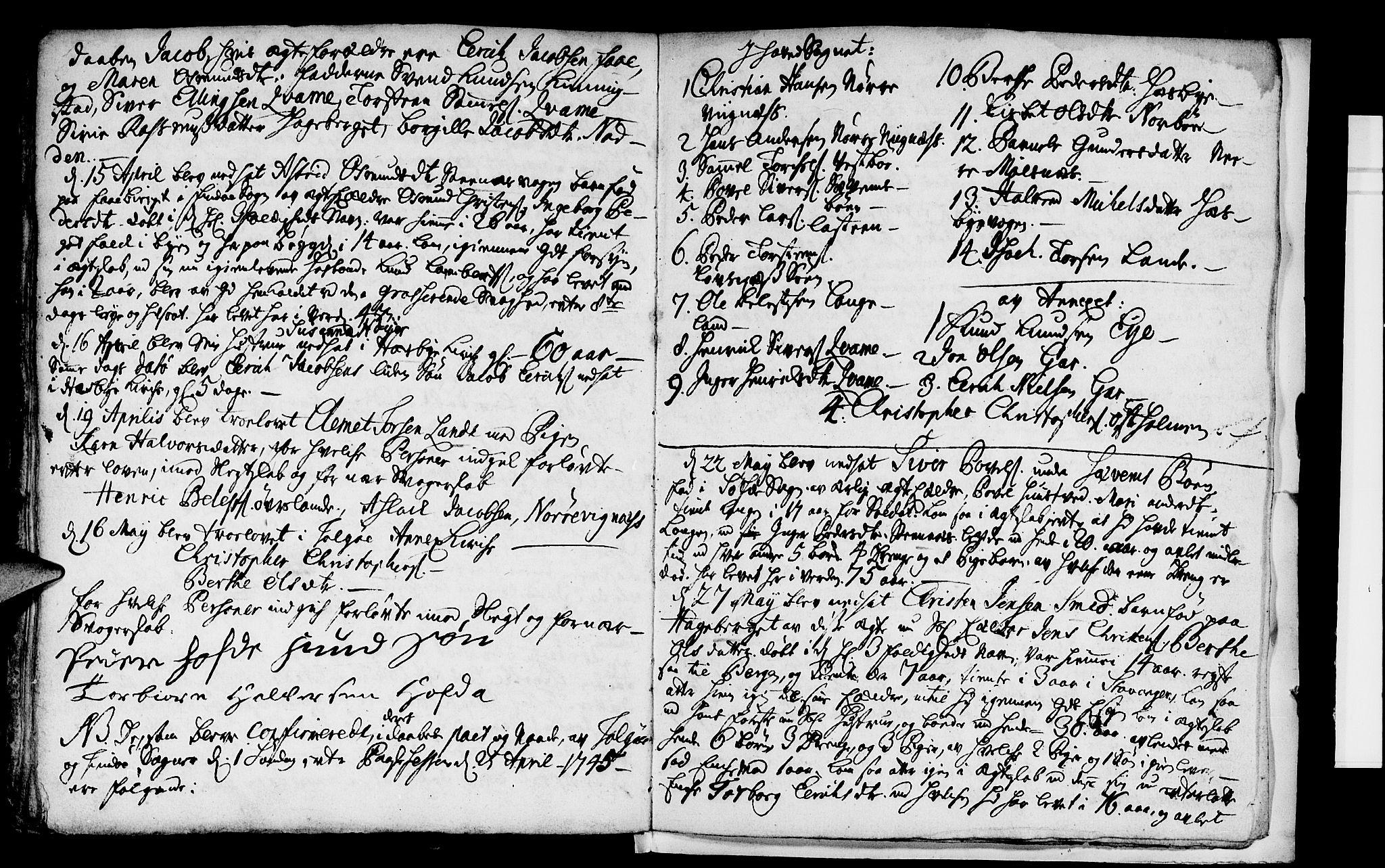 SAST, Finnøy sokneprestkontor, H/Ha/Haa/L0003: Parish register (official) no. A 3, 1735-1746