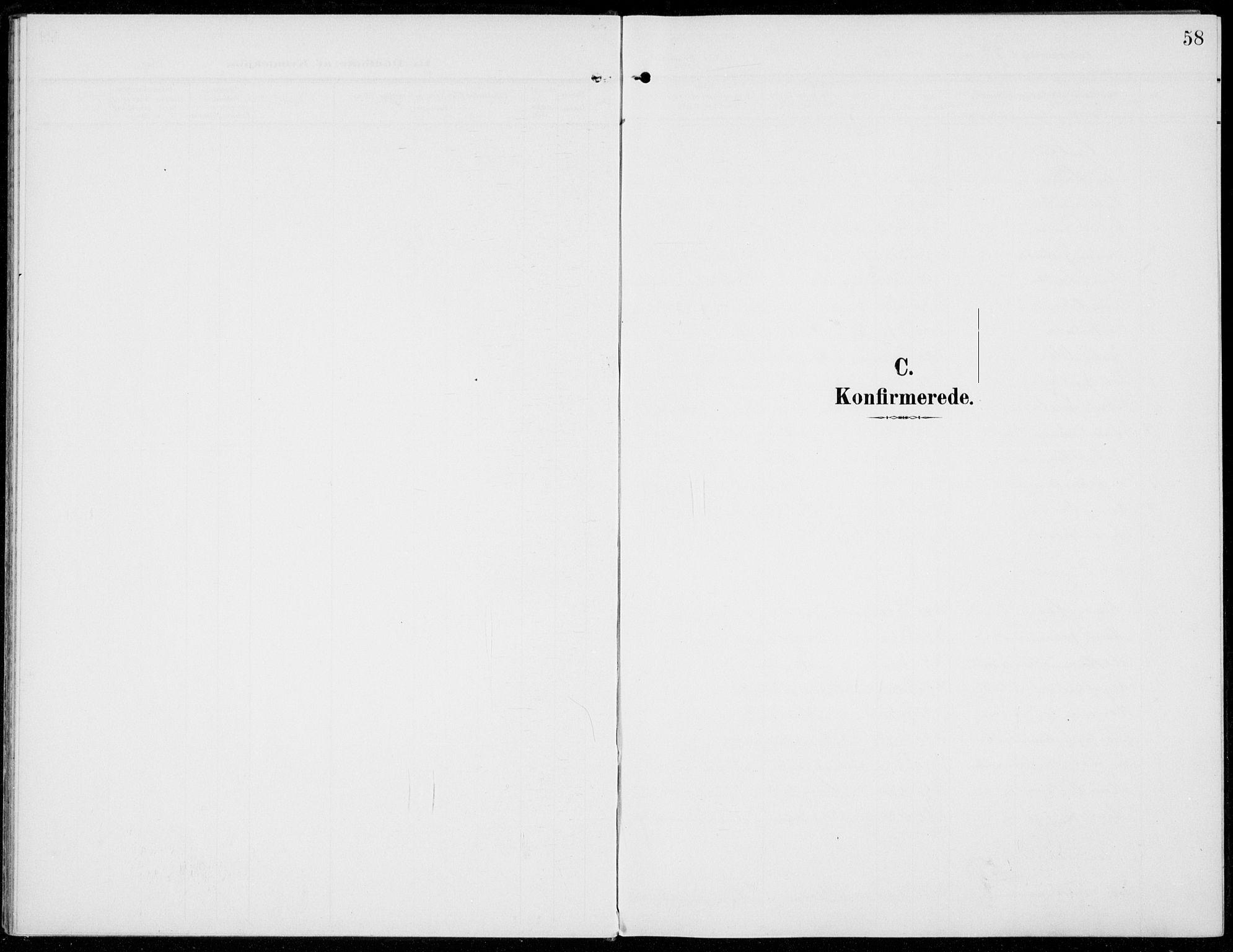 SAH, Sel prestekontor, Parish register (official) no. 1, 1905-1922, p. 58