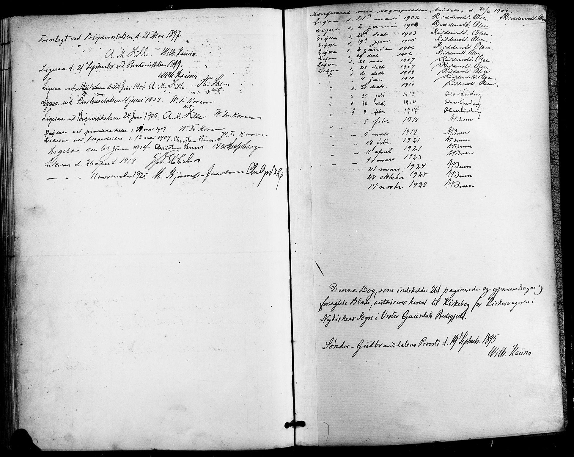 SAH, Vestre Gausdal prestekontor, Parish register (copy) no. 3, 1896-1925