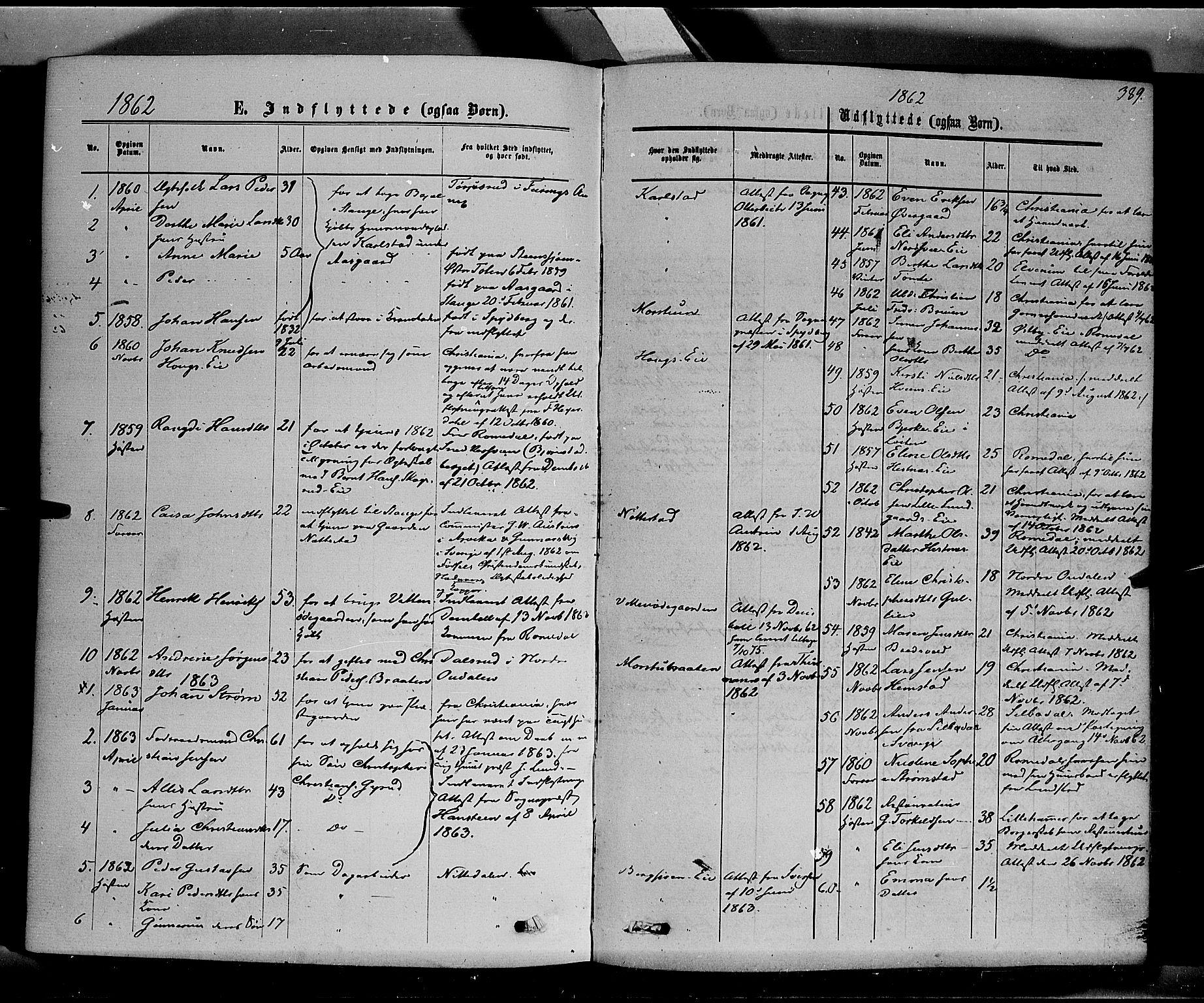 SAH, Stange prestekontor, K/L0013: Parish register (official) no. 13, 1862-1879, p. 389