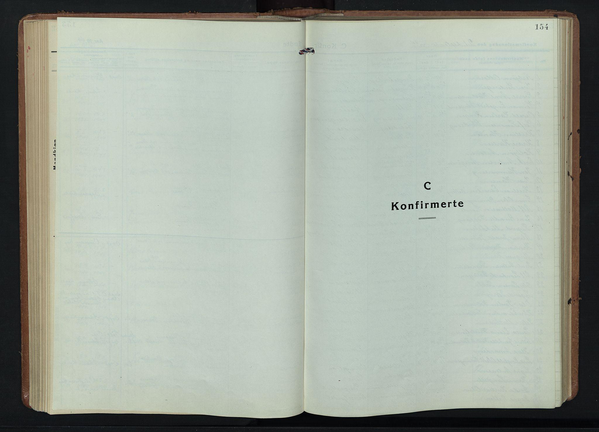 SAH, Fåberg prestekontor, H/Ha/Hab/L0015: Parish register (copy) no. 15, 1924-1949, p. 154