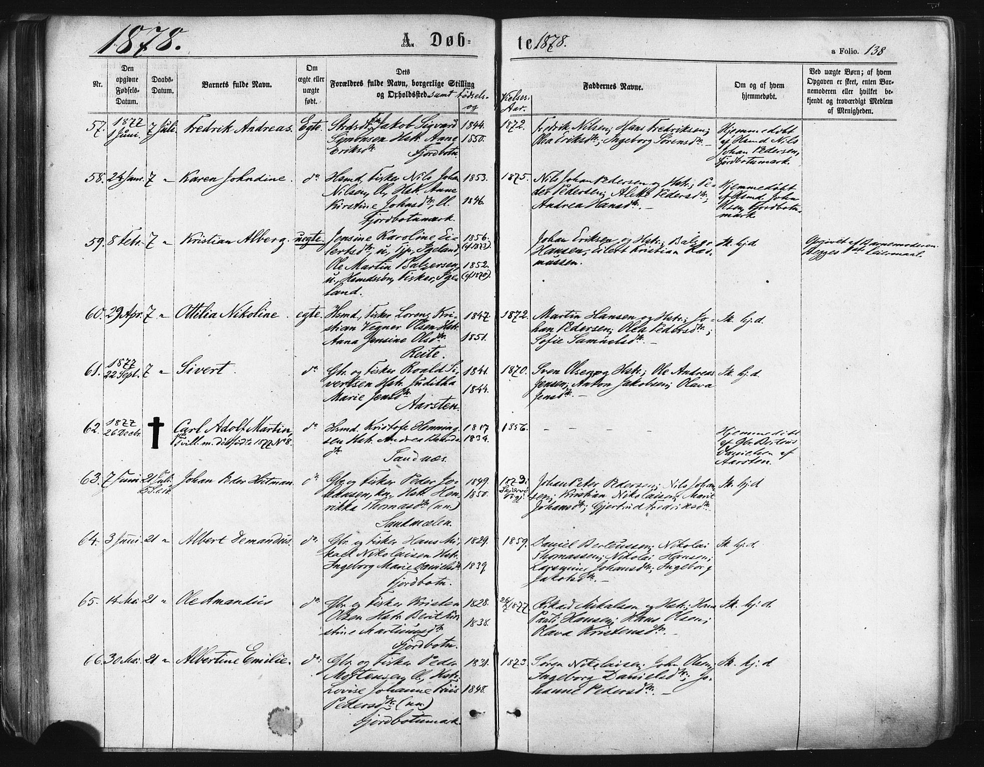 SATØ, Ibestad sokneprestembete, Parish register (official) no. 10, 1869-1879, p. 138