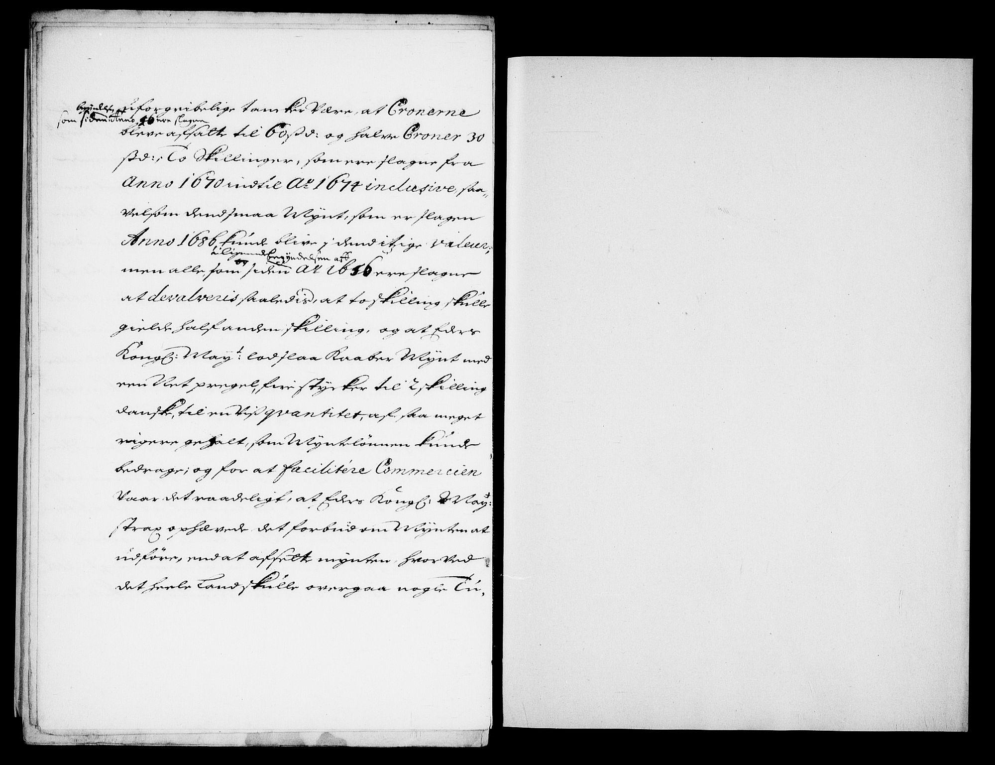 RA, Danske Kanselli, Skapsaker, G/L0019: Tillegg til skapsakene, 1616-1753, p. 340