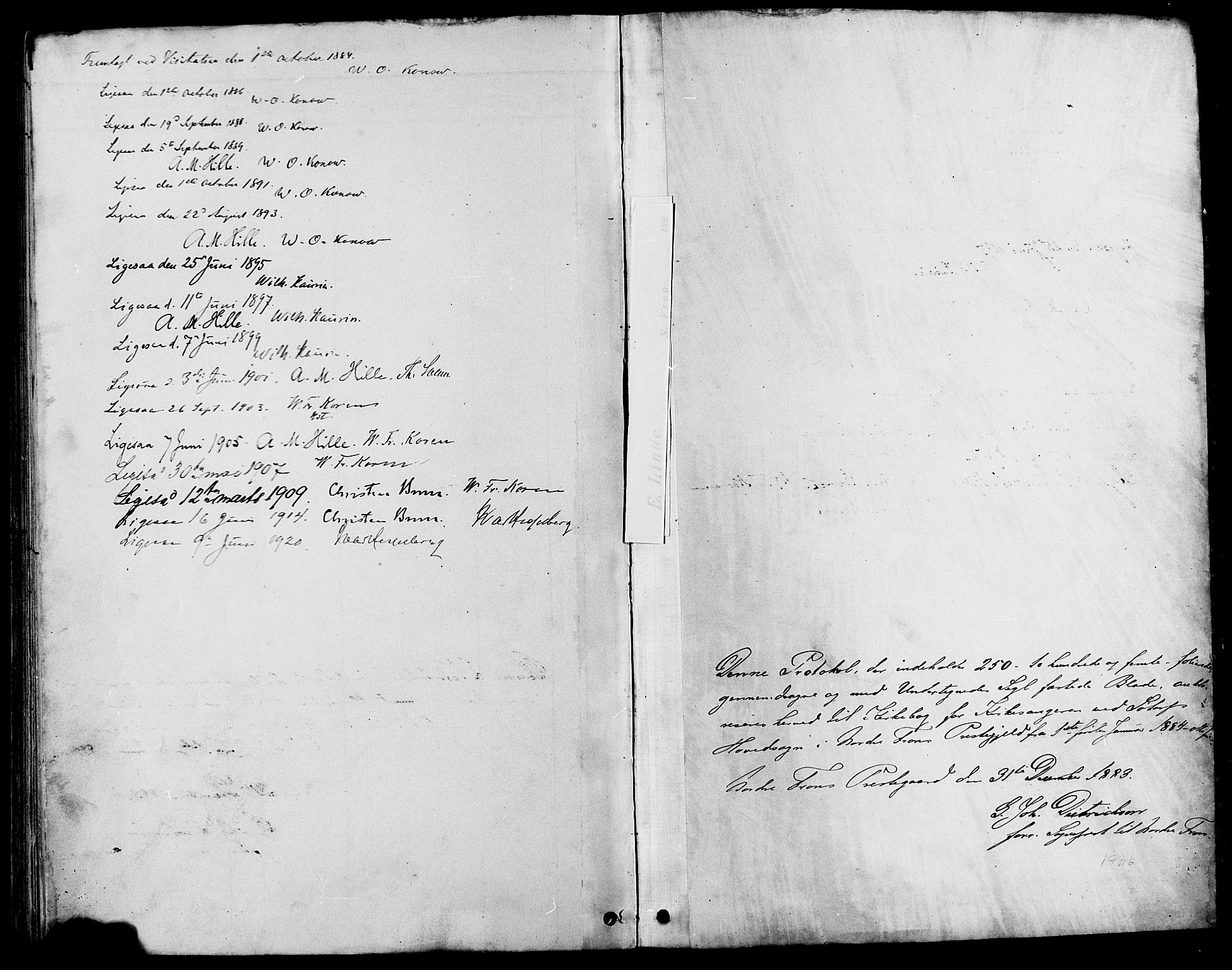 SAH, Nord-Fron prestekontor, Parish register (copy) no. 4, 1884-1914