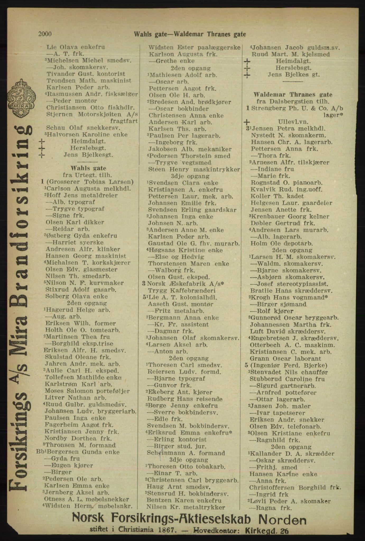 PUBL, Kristiania/Oslo adressebok, 1918, p. 2153