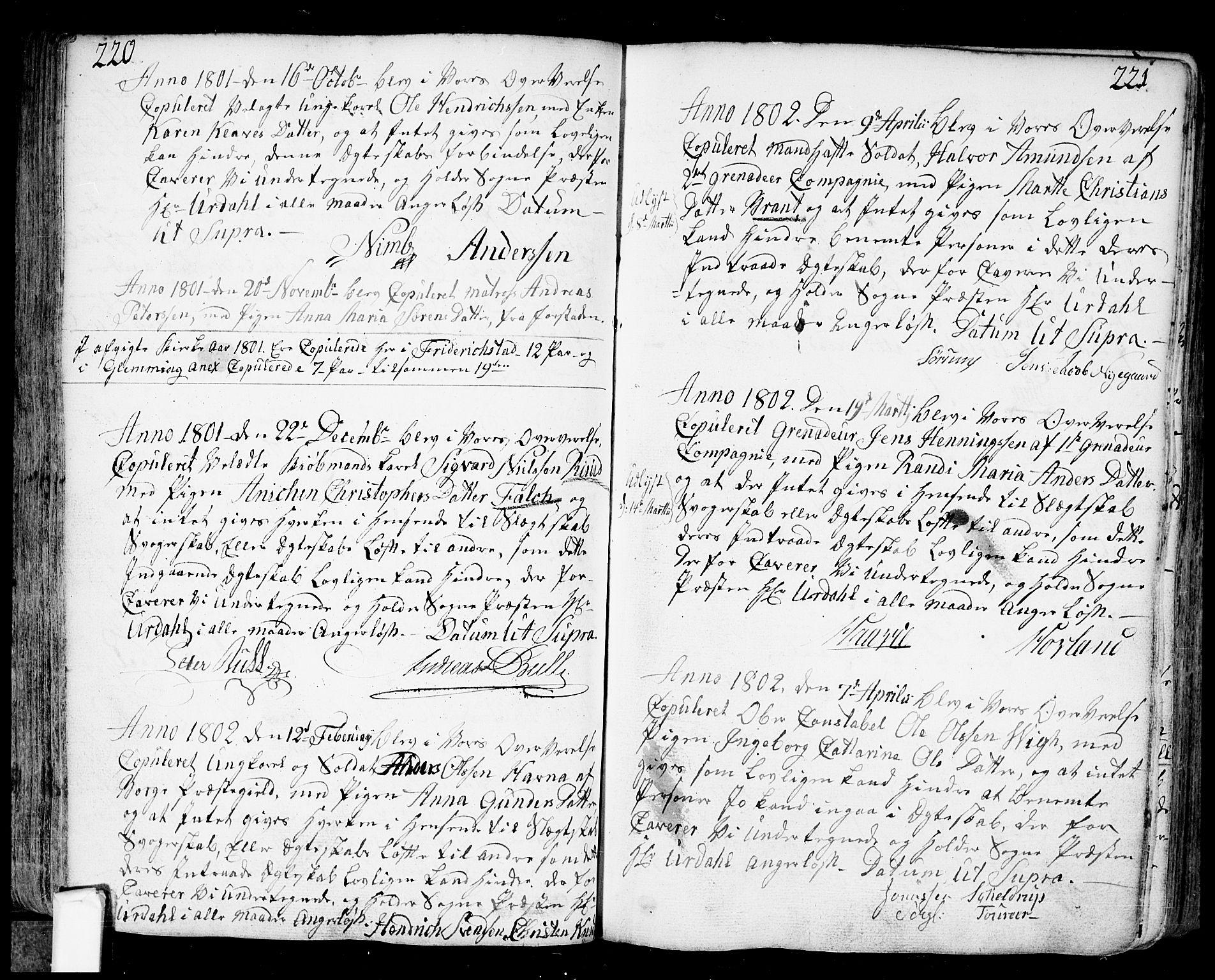SAO, Fredrikstad prestekontor Kirkebøker, F/Fa/L0002: Parish register (official) no. 2, 1750-1804, p. 220-221