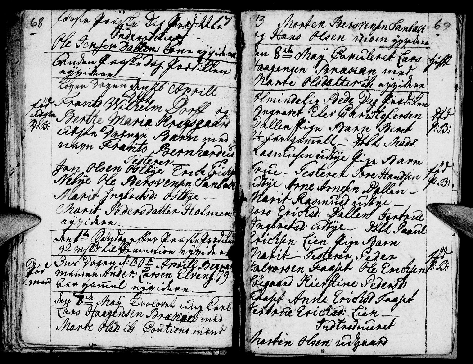 SAH, Tynset prestekontor, Parish register (official) no. 12, 1780-1784, p. 68-69