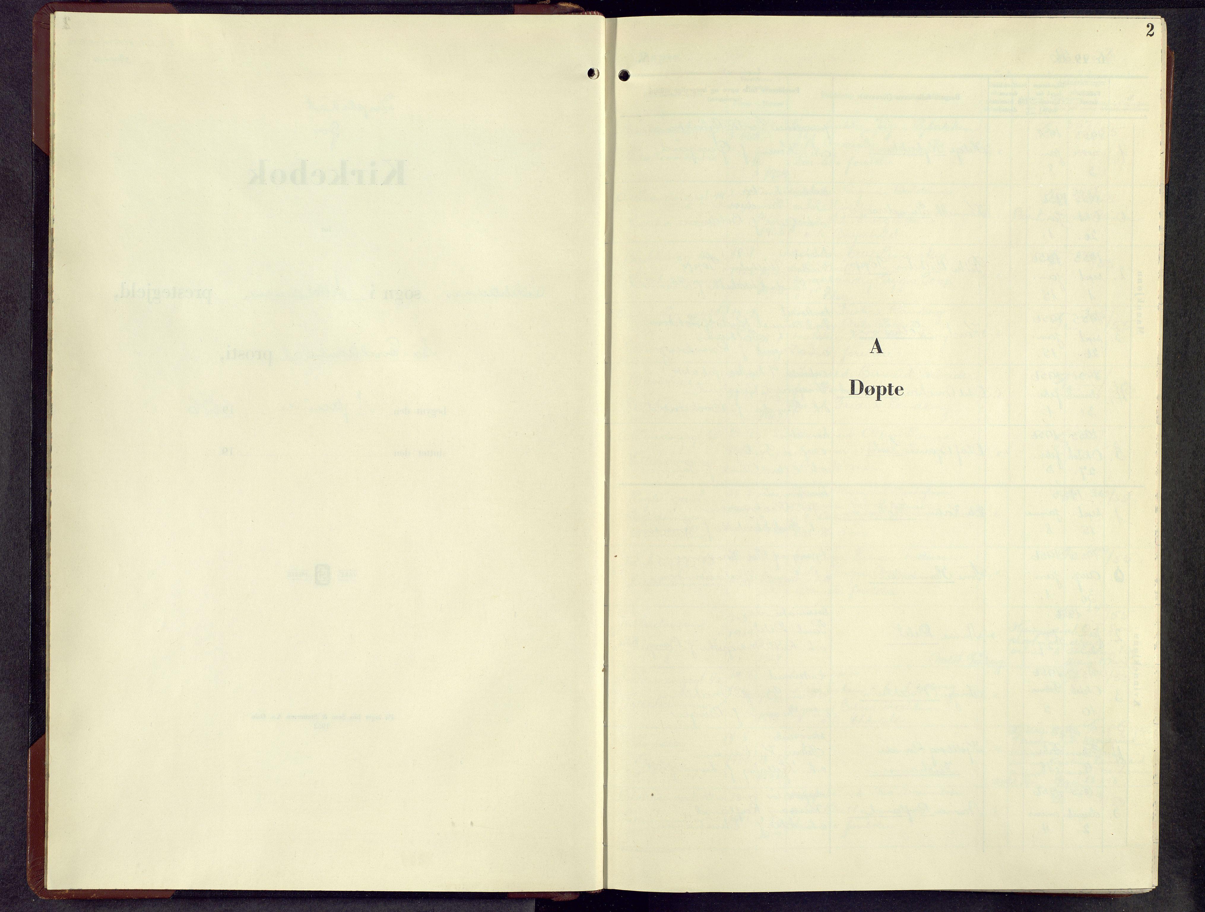 SAH, Lillehammer prestekontor, H/Ha/Hab/L0006: Parish register (copy) no. 6, 1956-1958, p. 2
