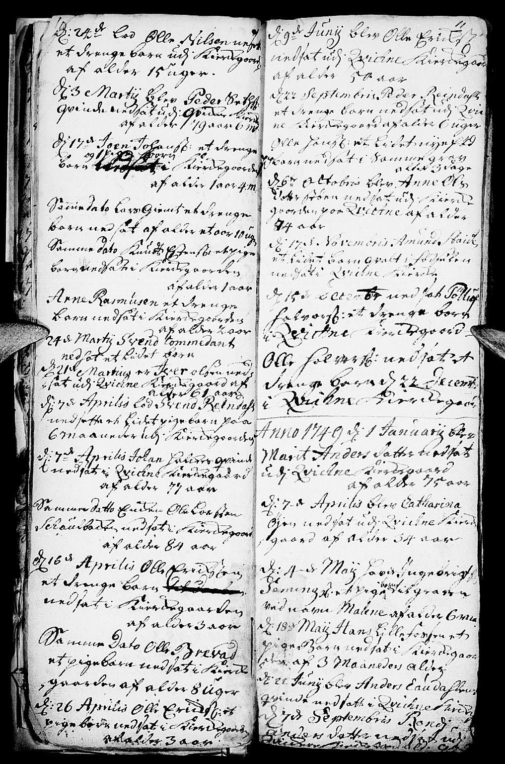 SAH, Kvikne prestekontor, Parish register (official) no. 1, 1740-1756, p. 10-11