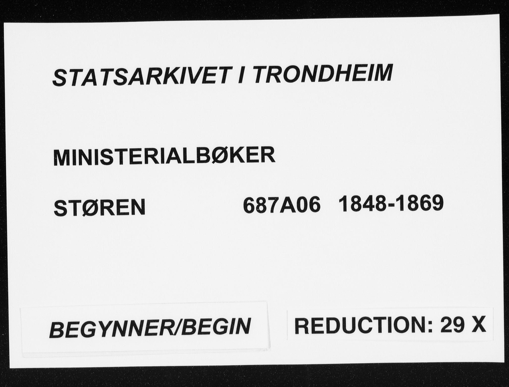 SAT, Ministerialprotokoller, klokkerbøker og fødselsregistre - Sør-Trøndelag, 687/L1000: Parish register (official) no. 687A06, 1848-1869