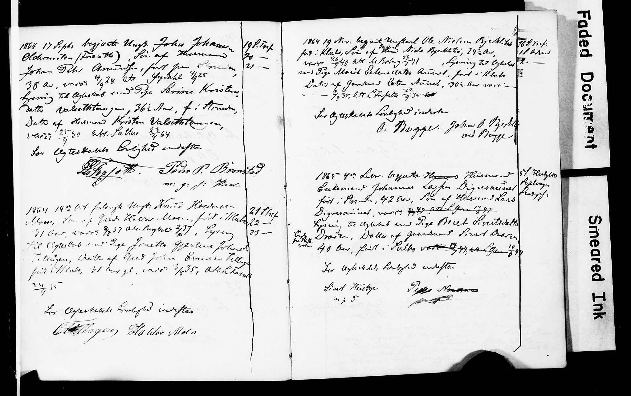 SAT, Ministerialprotokoller, klokkerbøker og fødselsregistre - Sør-Trøndelag, 618/L0445: Banns register no. 618A08, 1863-1898
