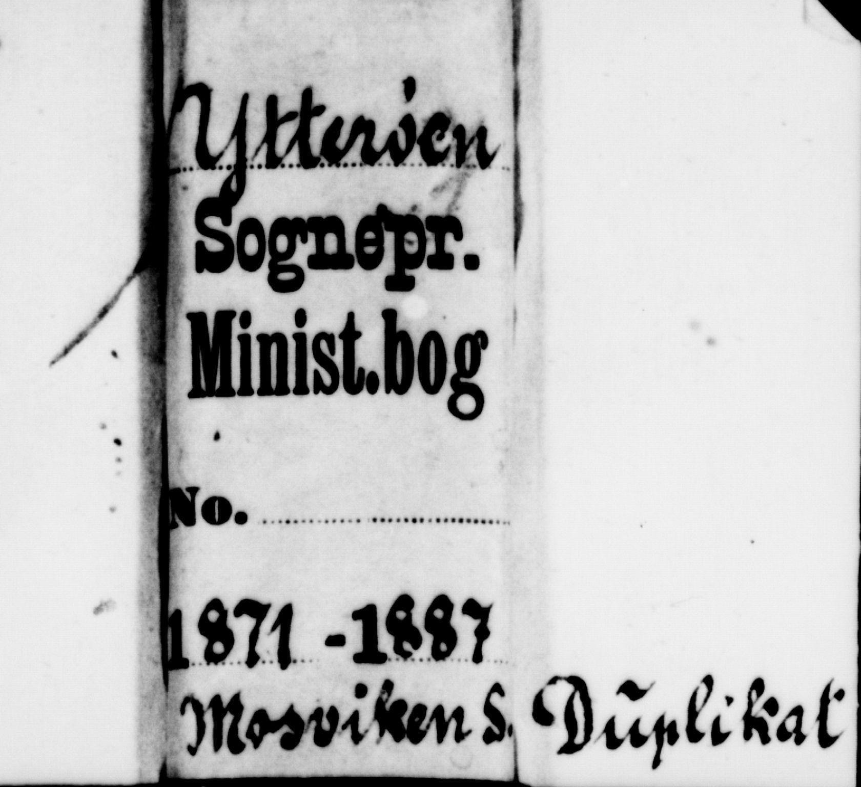 SAT, Ministerialprotokoller, klokkerbøker og fødselsregistre - Nord-Trøndelag, 733/L0326: Parish register (copy) no. 733C01, 1871-1887