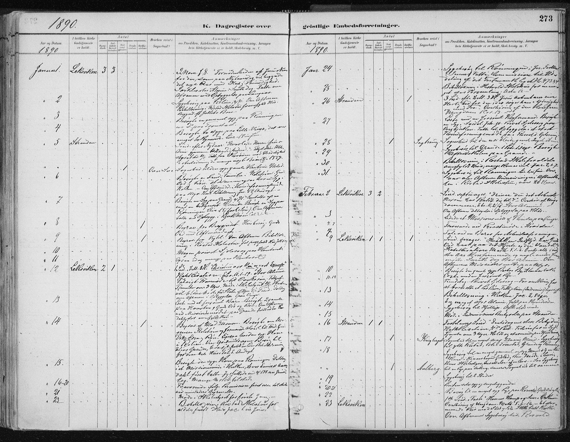SAT, Ministerialprotokoller, klokkerbøker og fødselsregistre - Nord-Trøndelag, 701/L0010: Parish register (official) no. 701A10, 1883-1899, p. 273