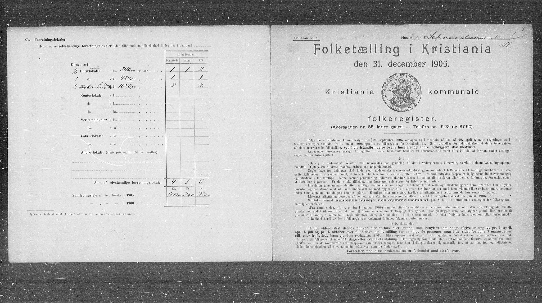 OBA, Municipal Census 1905 for Kristiania, 1905, p. 46925