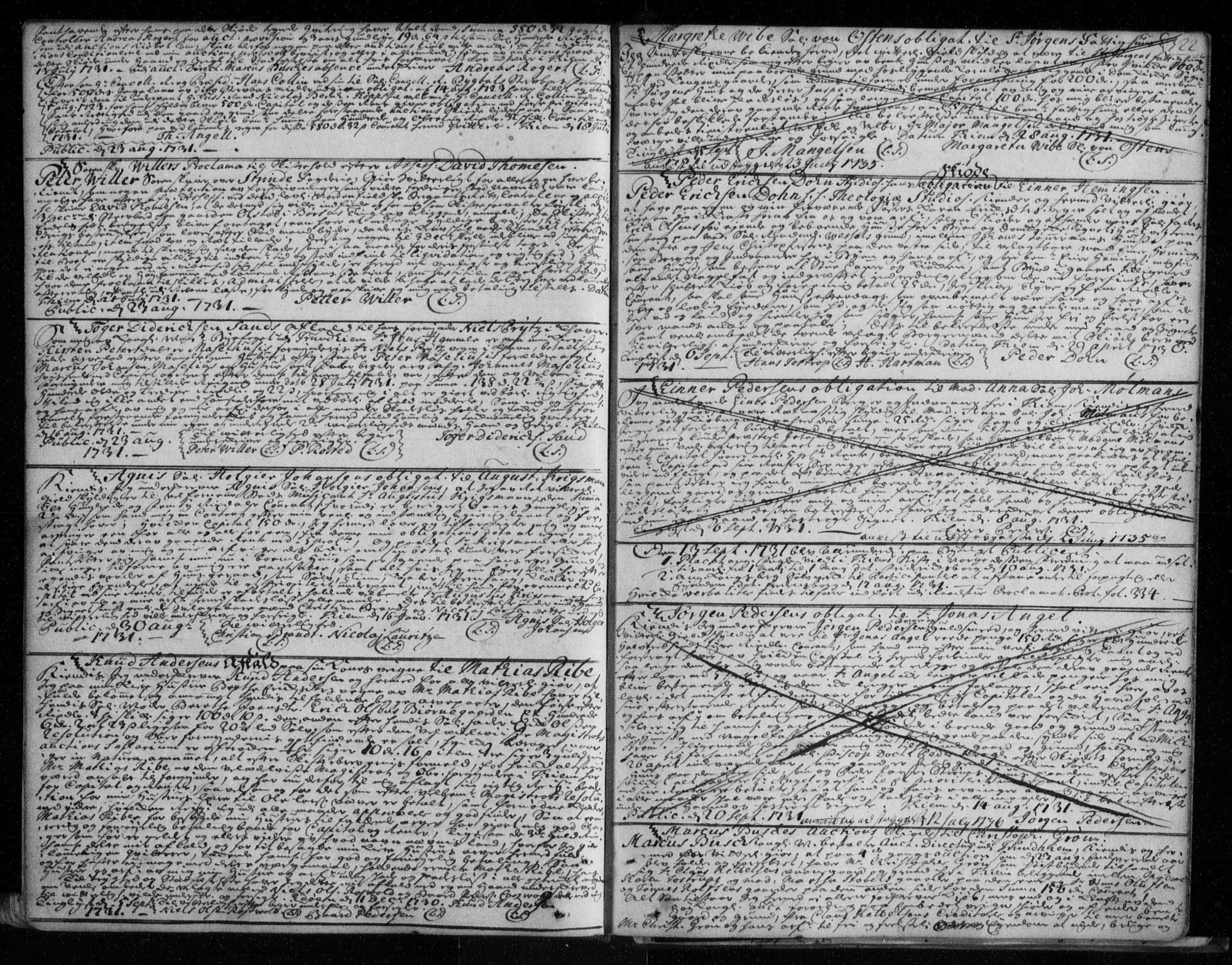 SAT, Trondheim byfogd, 2/2C/L0006: Mortgage book no. 4, 1720-1733, p. 322