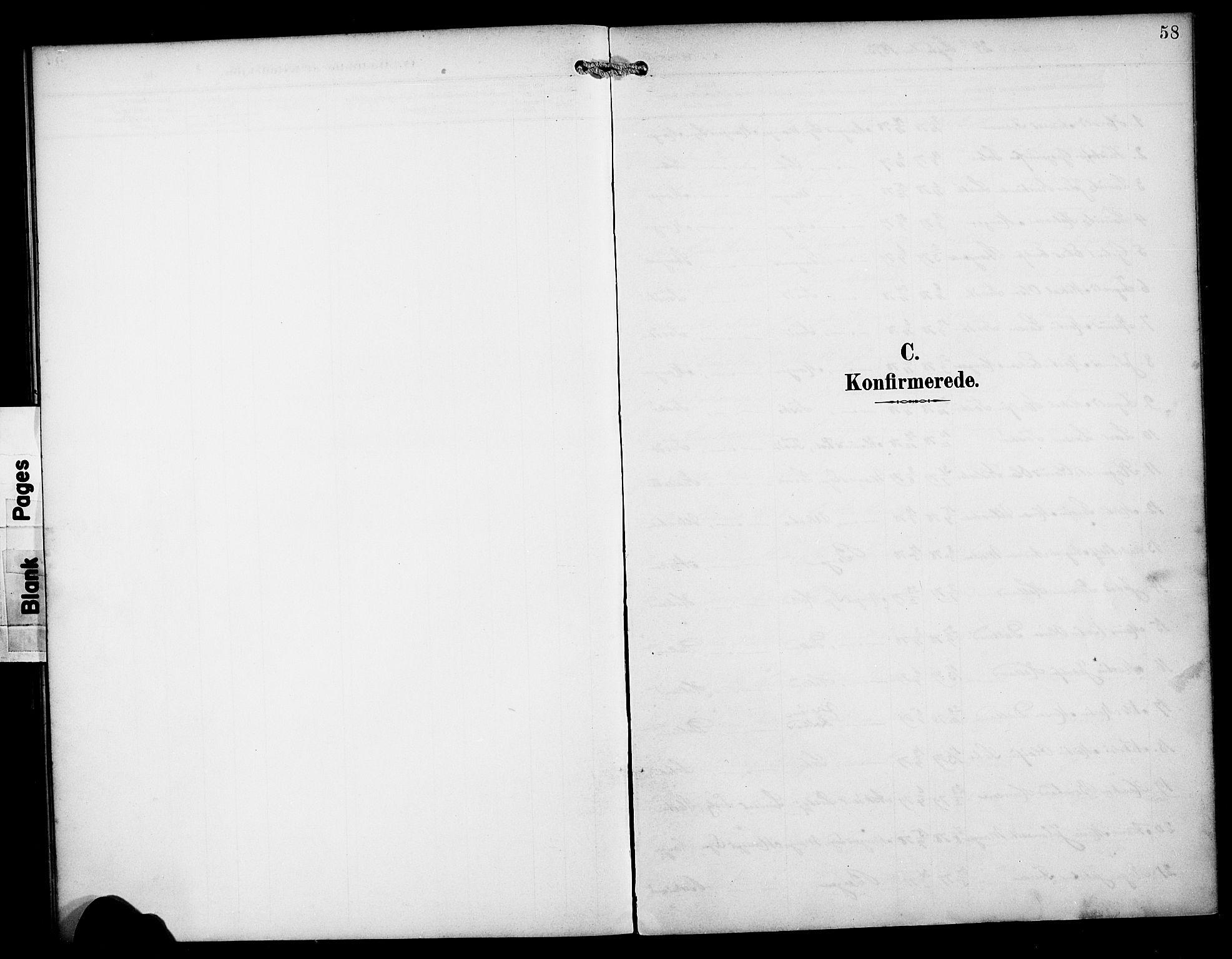SAB, Manger sokneprestembete, H/Haa: Parish register (official) no. B 2, 1893-1906, p. 58