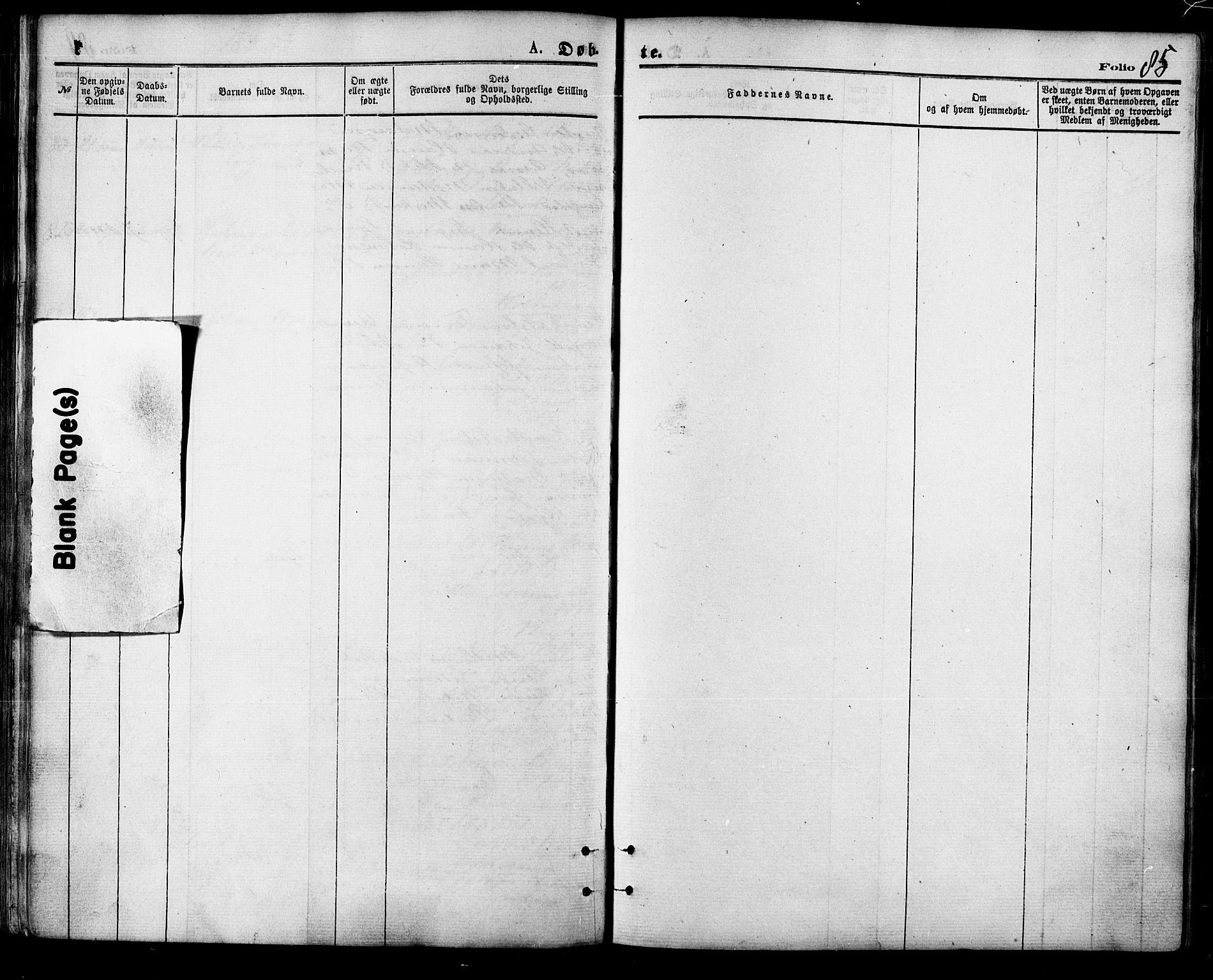 SATØ, Balsfjord sokneprestembete, Parish register (official) no. 4, 1871-1883, p. 85