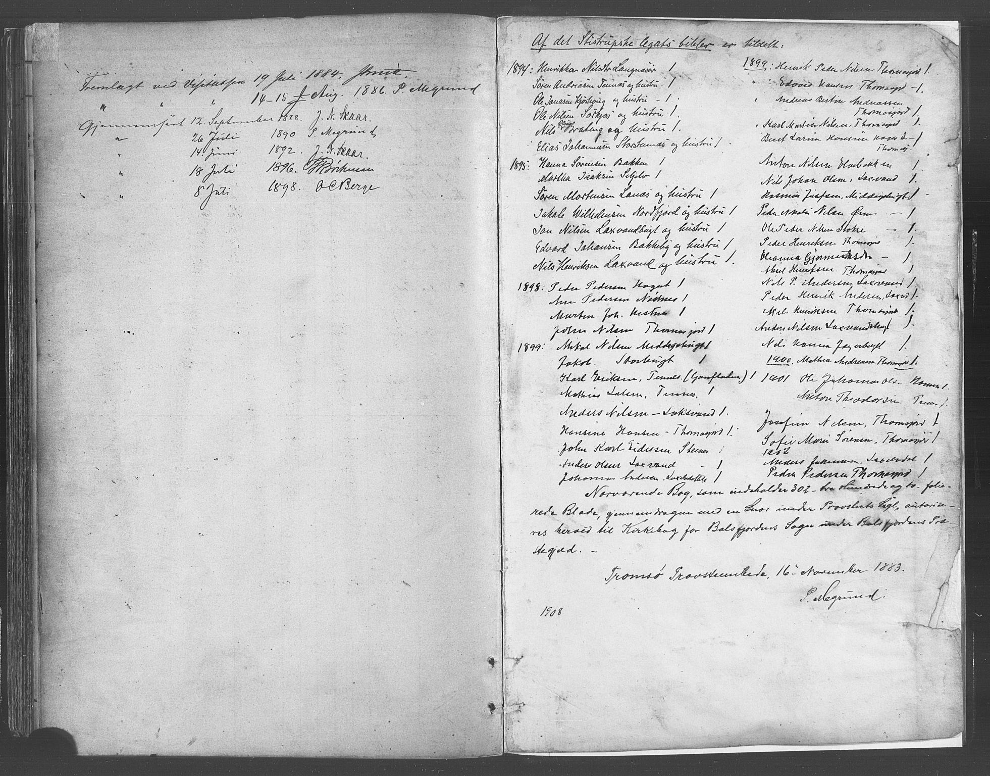 SATØ, Balsfjord sokneprestembete, Parish register (official) no. 5, 1884-1897
