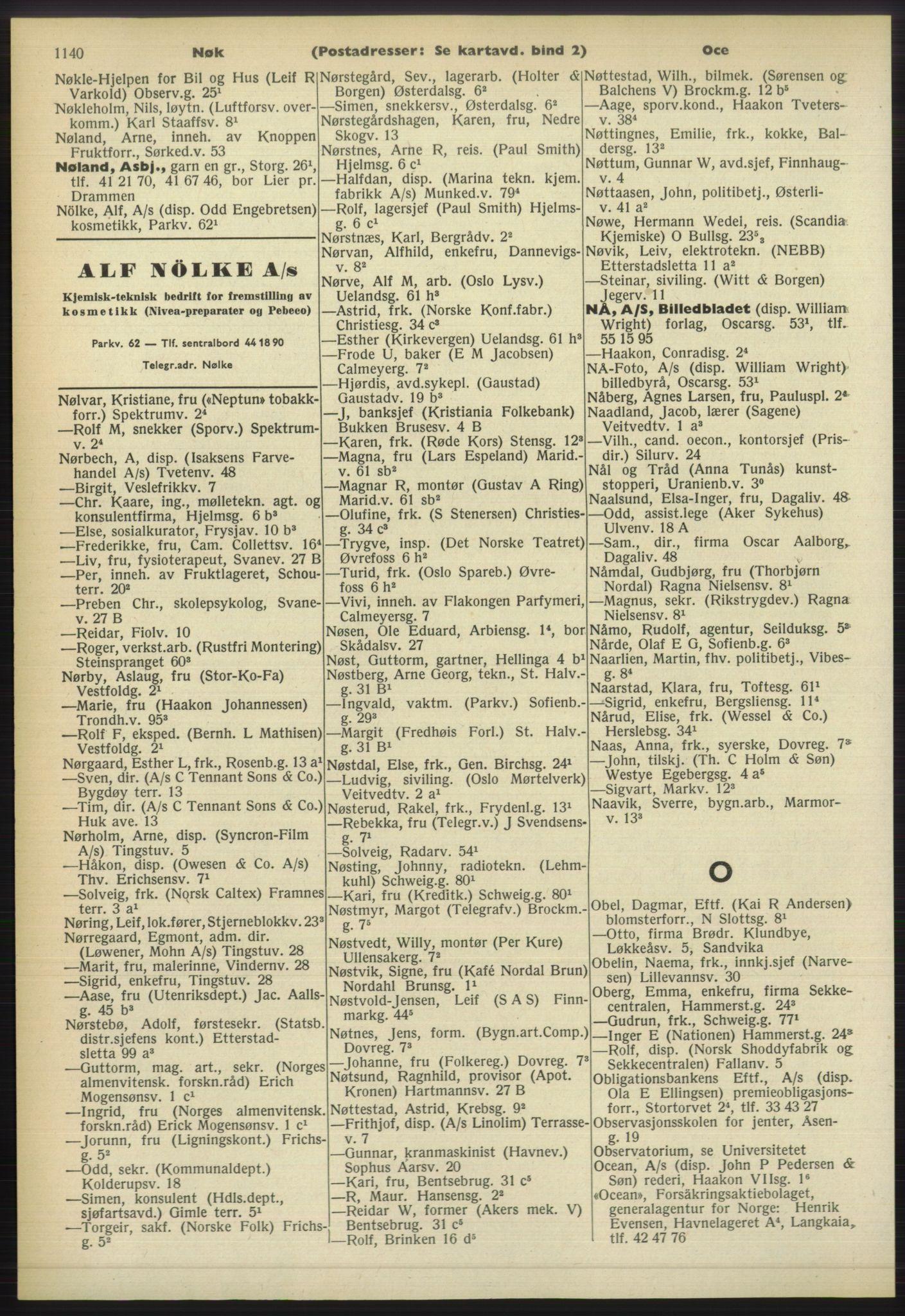 PUBL, Kristiania/Oslo adressebok, 1960-1961, p. 1140