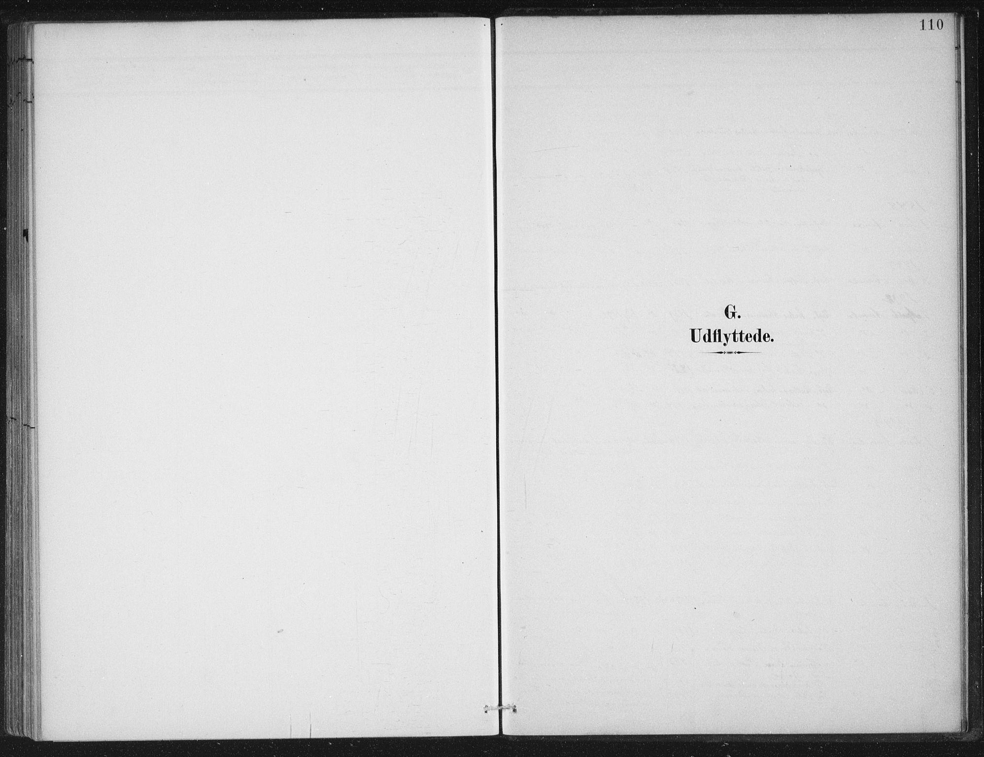 SAB, Gloppen sokneprestembete, H/Haa/Haad/L0001: Parish register (official) no. D  1, 1885-1910, p. 110