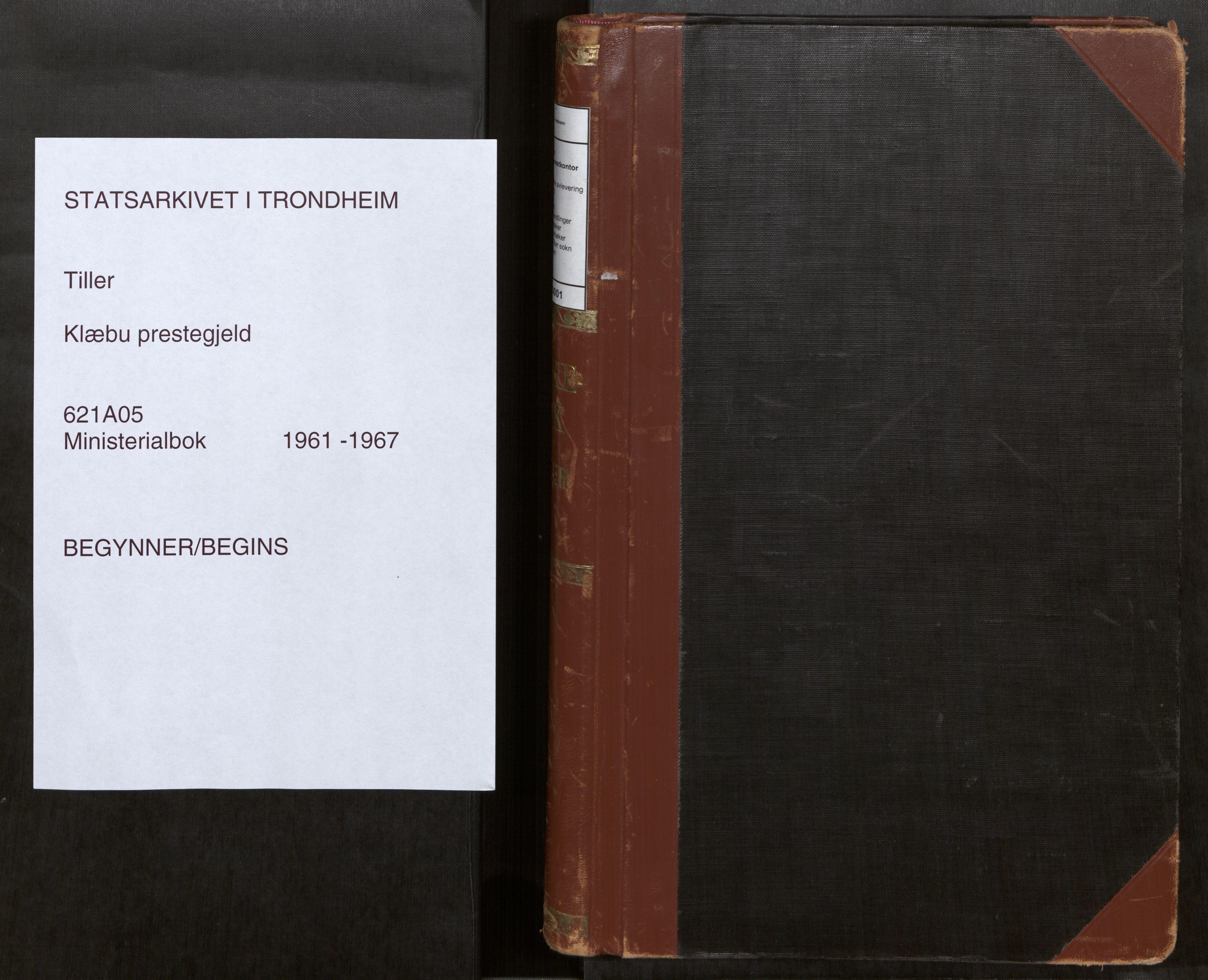 SAT, Klæbu sokneprestkontor, Parish register (official) no. 5, 1961-1967