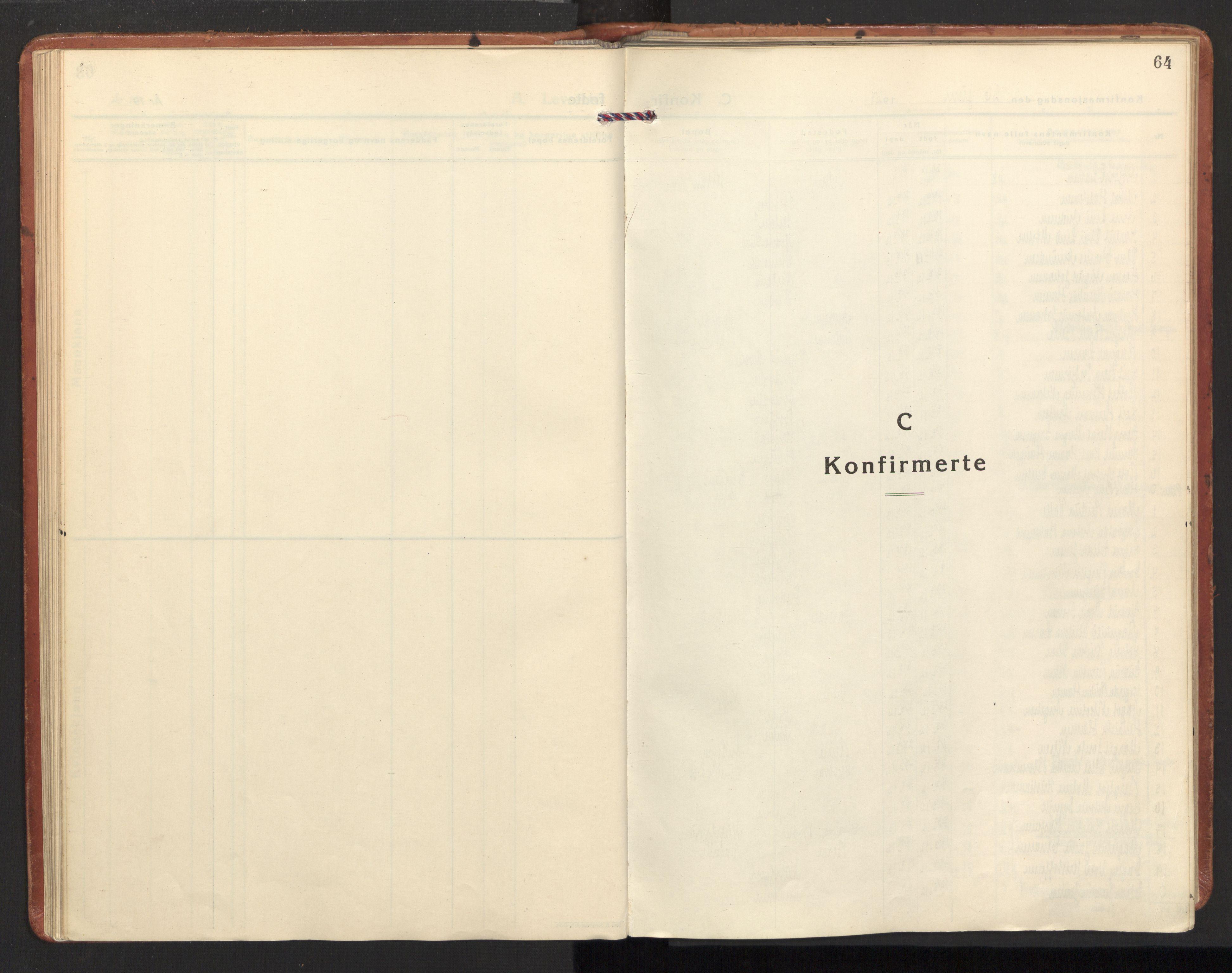SAT, Ministerialprotokoller, klokkerbøker og fødselsregistre - Nordland, 885/L1211: Parish register (official) no. 885A11, 1927-1938, p. 64