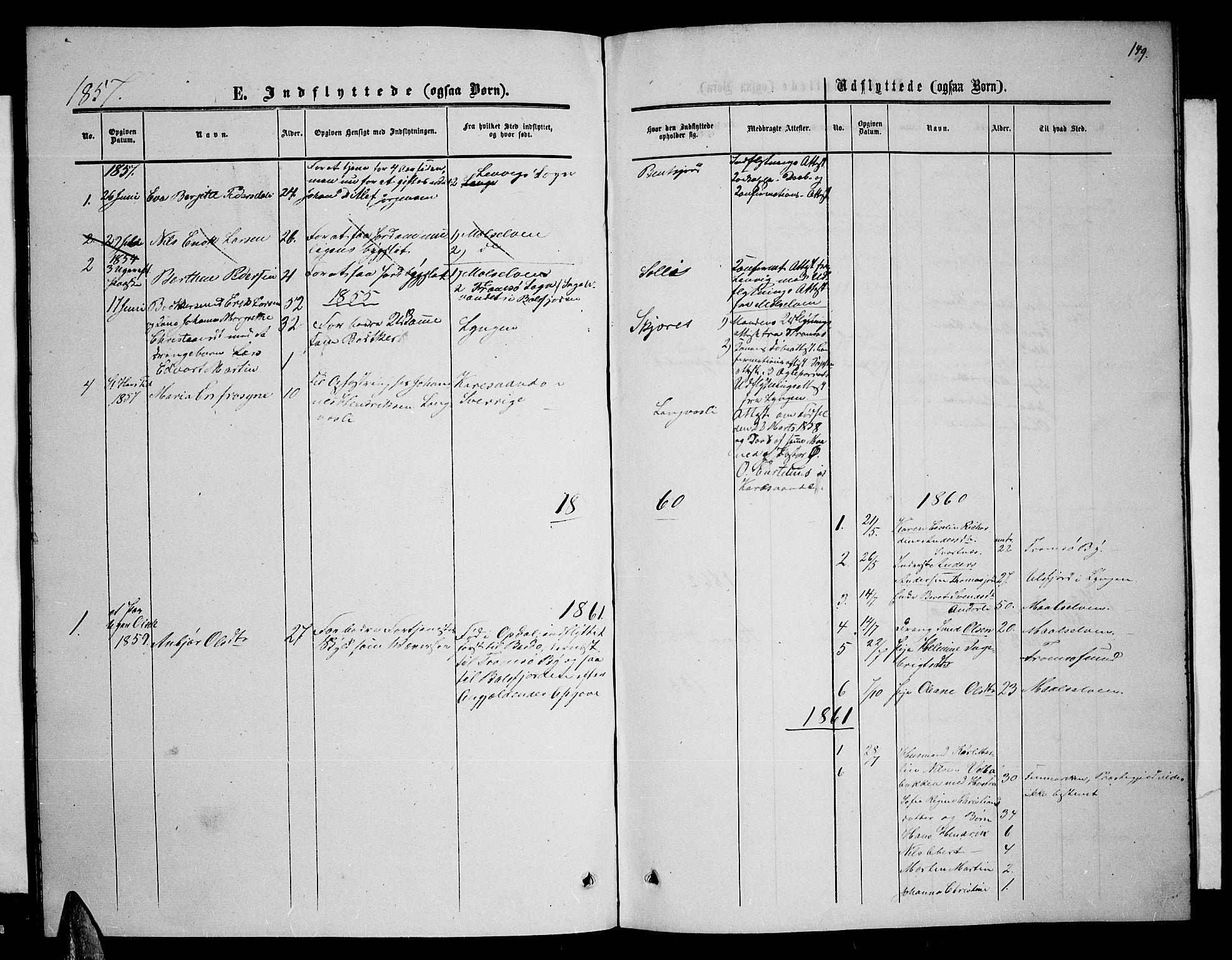 SATØ, Balsfjord sokneprestembete, Parish register (copy) no. 5, 1856-1862, p. 149