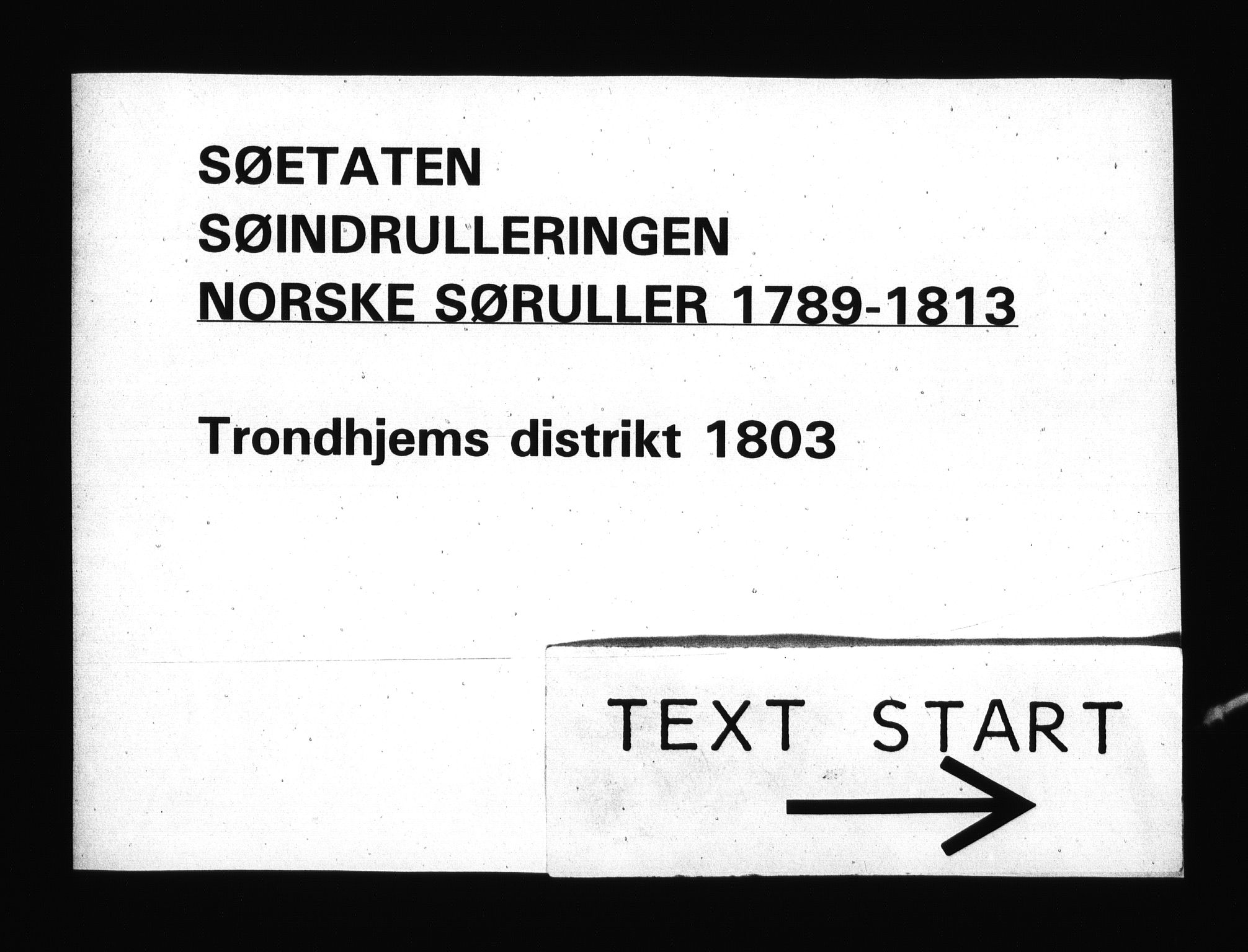 RA, Sjøetaten, F/L0331: Trondheim distrikt, bind 1, 1803