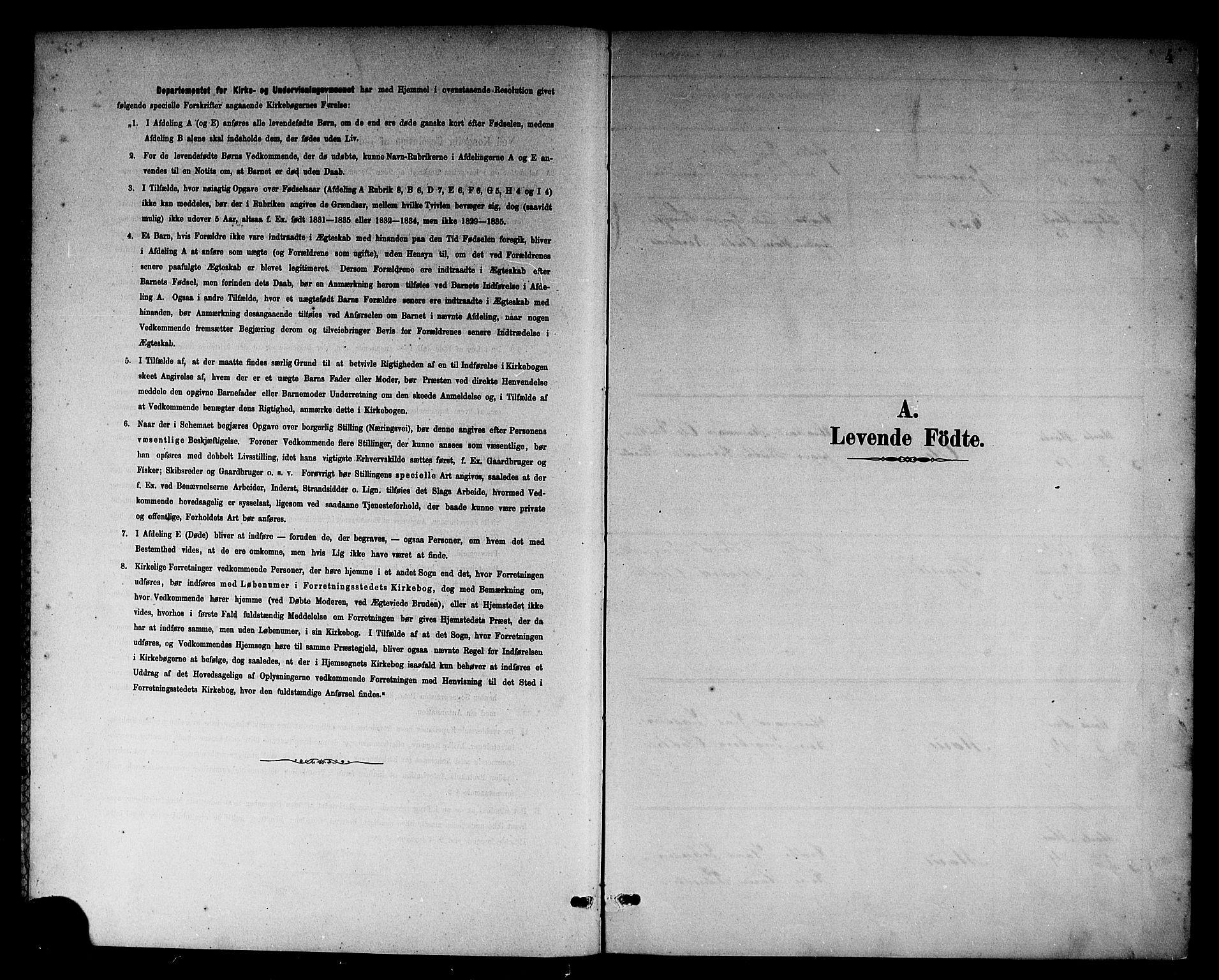 SAB, Sogndal Sokneprestembete, H/Hab/Habc/L0002: Parish register (copy) no. C 2, 1884-1910, p. 4