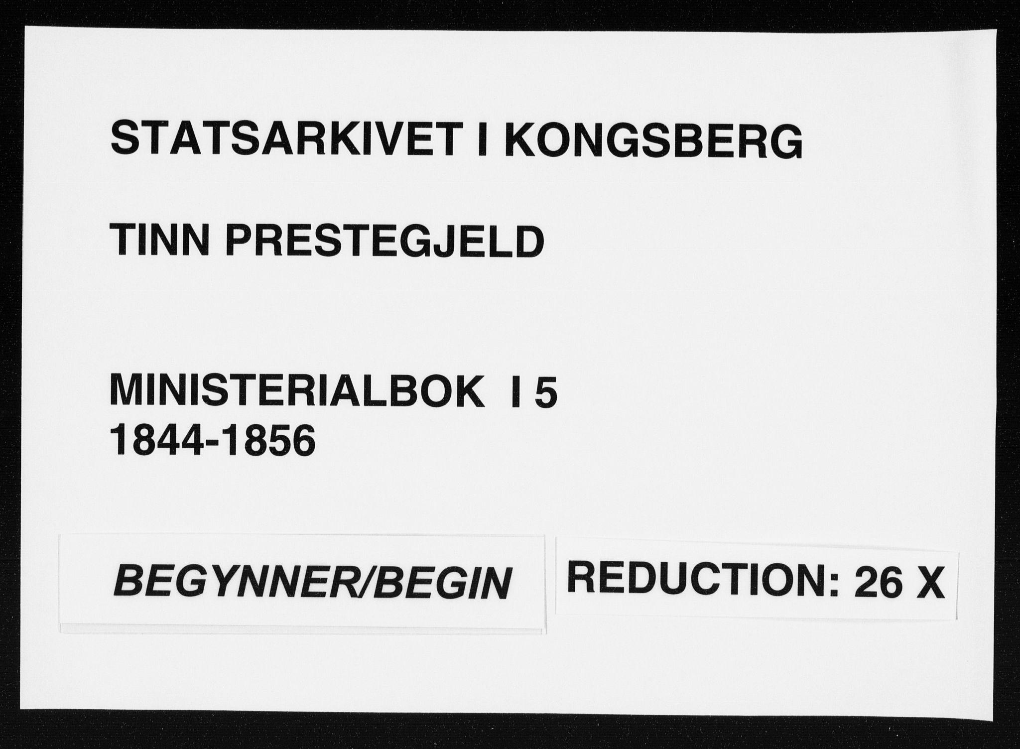 SAKO, Tinn kirkebøker, F/Fa/L0005: Parish register (official) no. I 5, 1844-1856
