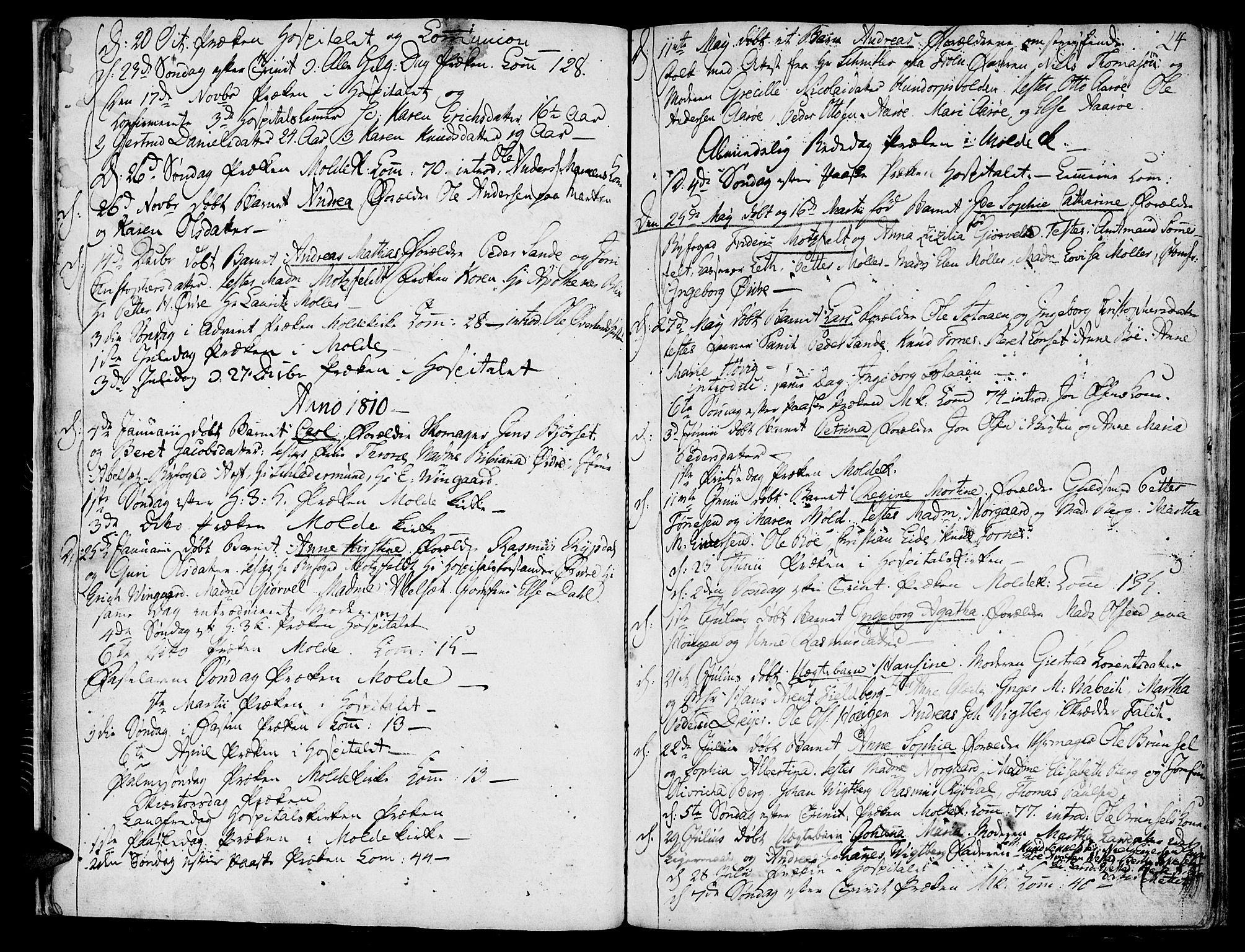 SAT, Ministerialprotokoller, klokkerbøker og fødselsregistre - Møre og Romsdal, 558/L0687: Parish register (official) no. 558A01, 1798-1818, p. 24