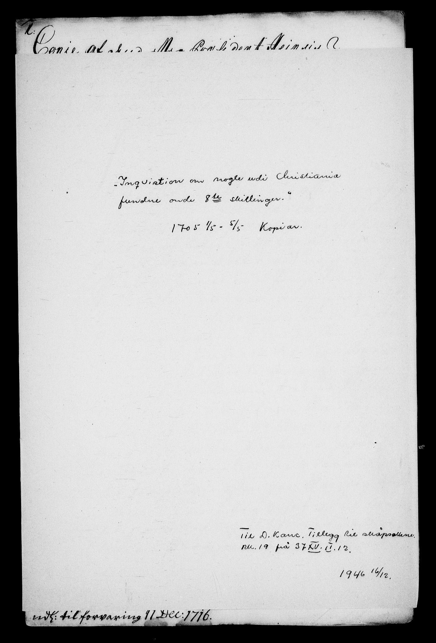RA, Danske Kanselli, Skapsaker, G/L0019: Tillegg til skapsakene, 1616-1753, p. 330