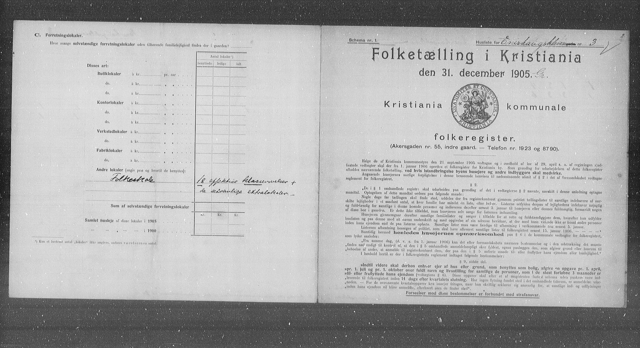 OBA, Municipal Census 1905 for Kristiania, 1905, p. 10966