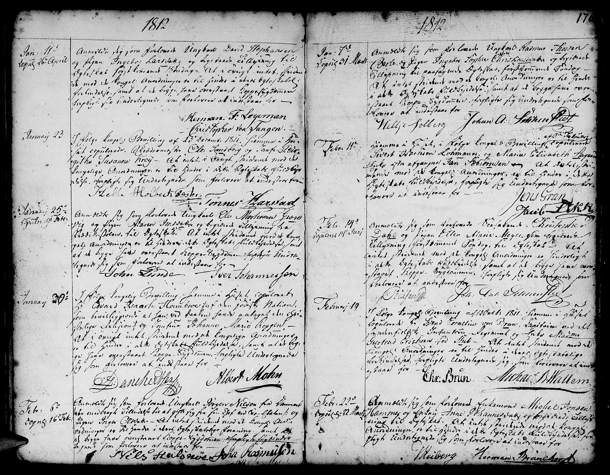 SAB, Nykirken Sokneprestembete, H/Haa: Parish register (official) no. A 8, 1776-1814, p. 176
