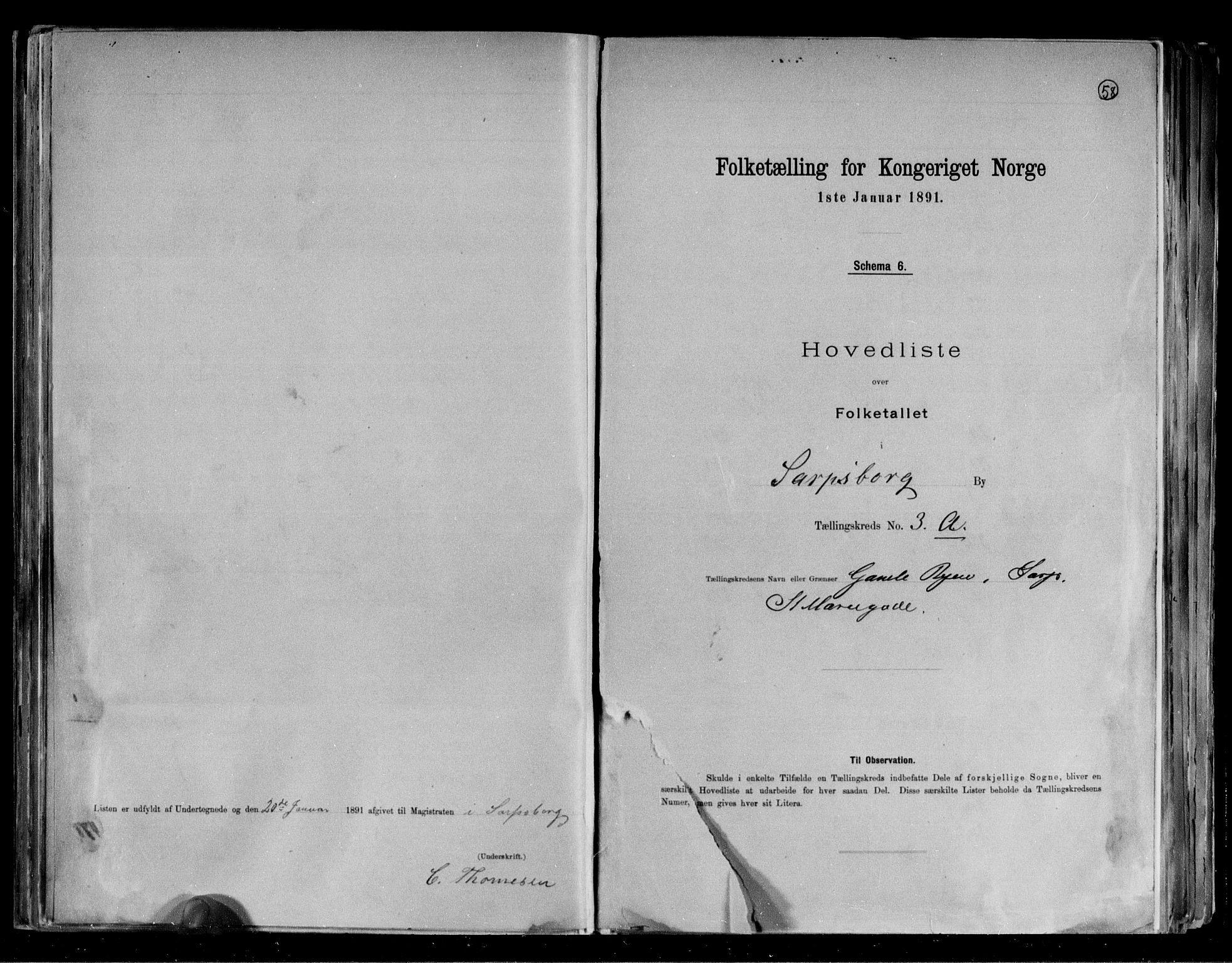 RA, 1891 census for 0102 Sarpsborg, 1891, p. 10