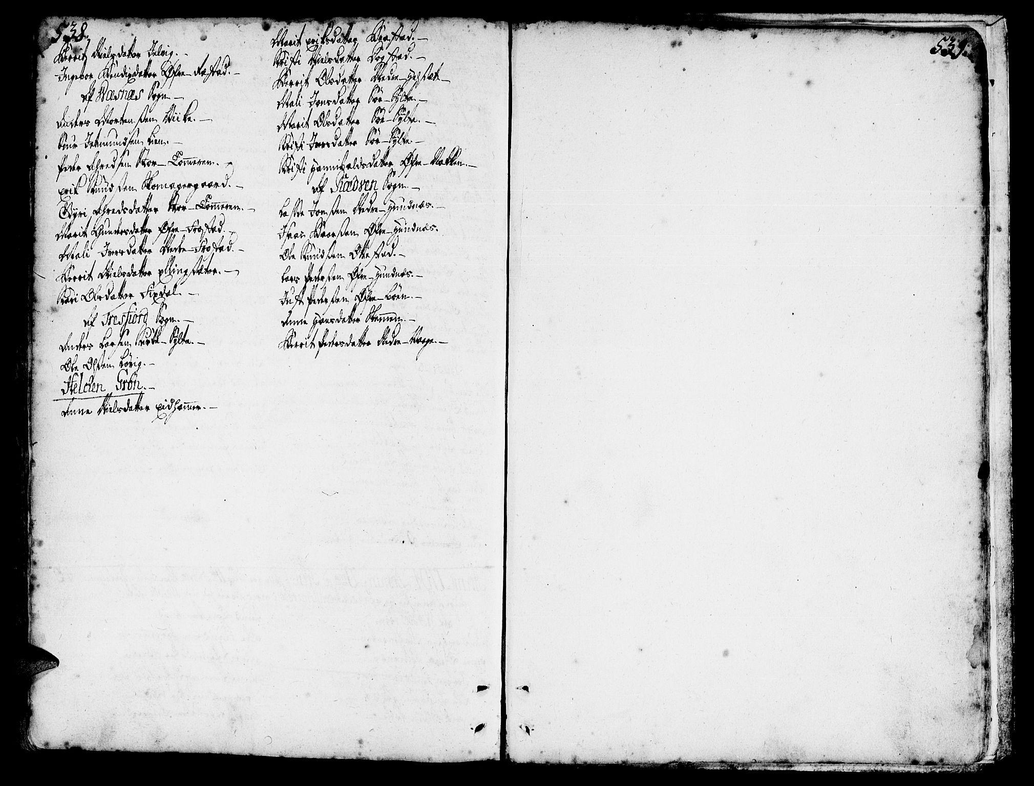 SAT, Ministerialprotokoller, klokkerbøker og fødselsregistre - Møre og Romsdal, 547/L0599: Parish register (official) no. 547A01, 1721-1764, p. 538-539
