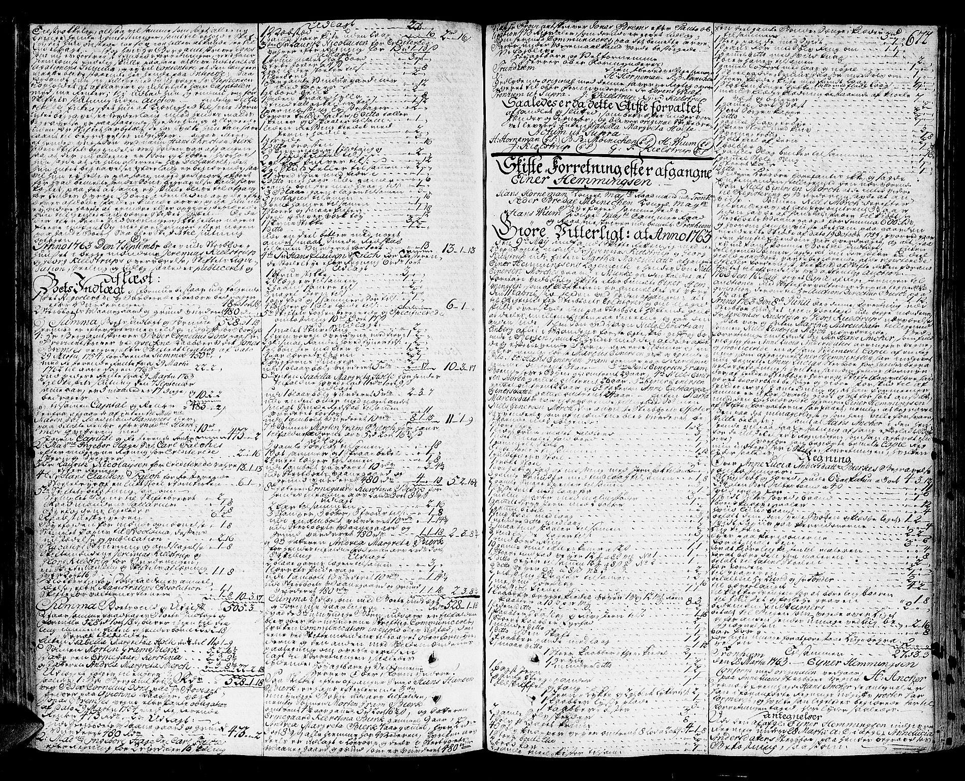 SAT, Trondheim byfogd, 3/3A/L0020: Skifteprotokoll - gml.nr.17. (m/ register) U, 1758-1765, p. 671b-672a