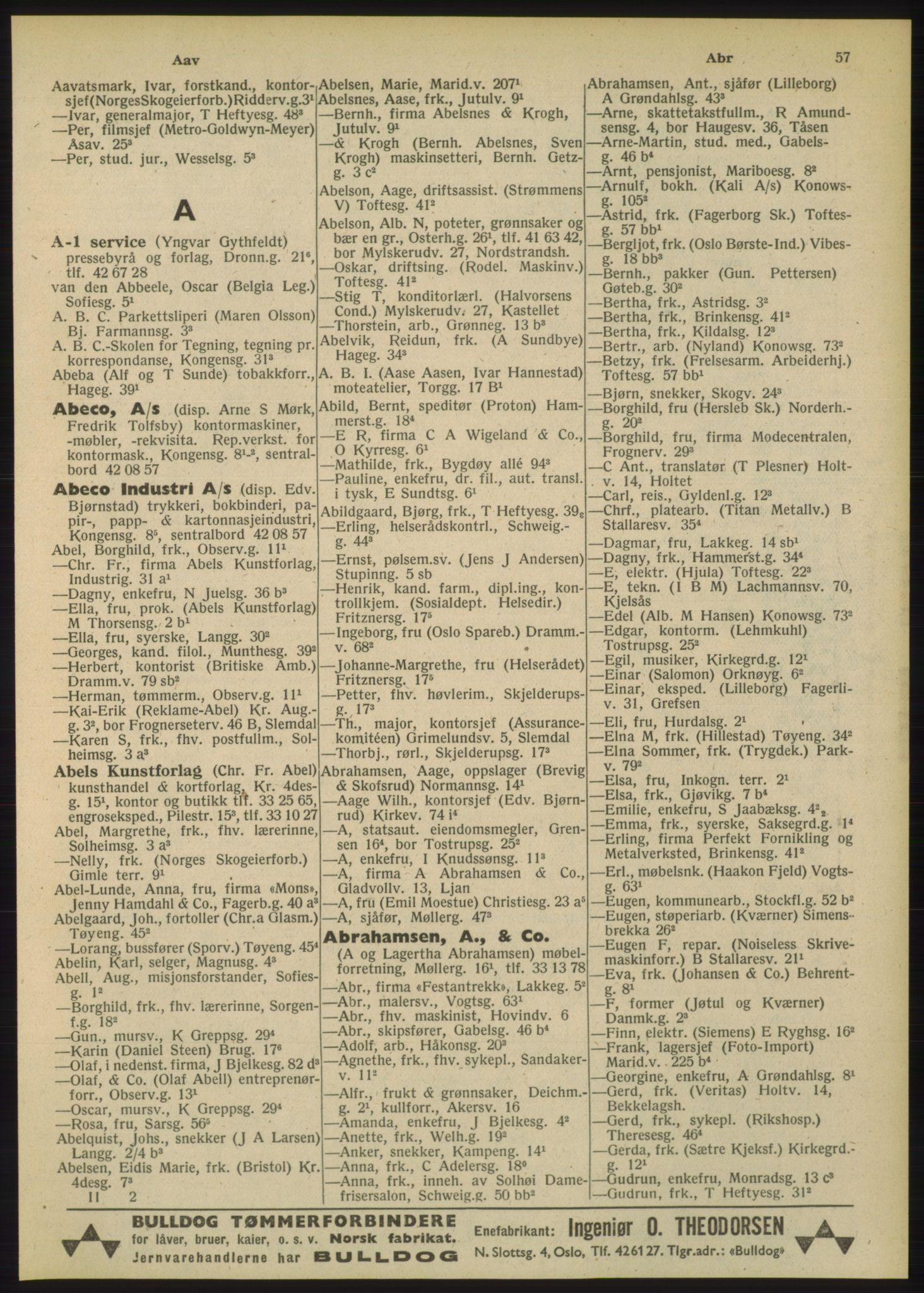 PUBL, Kristiania/Oslo adressebok, 1948, p. 57