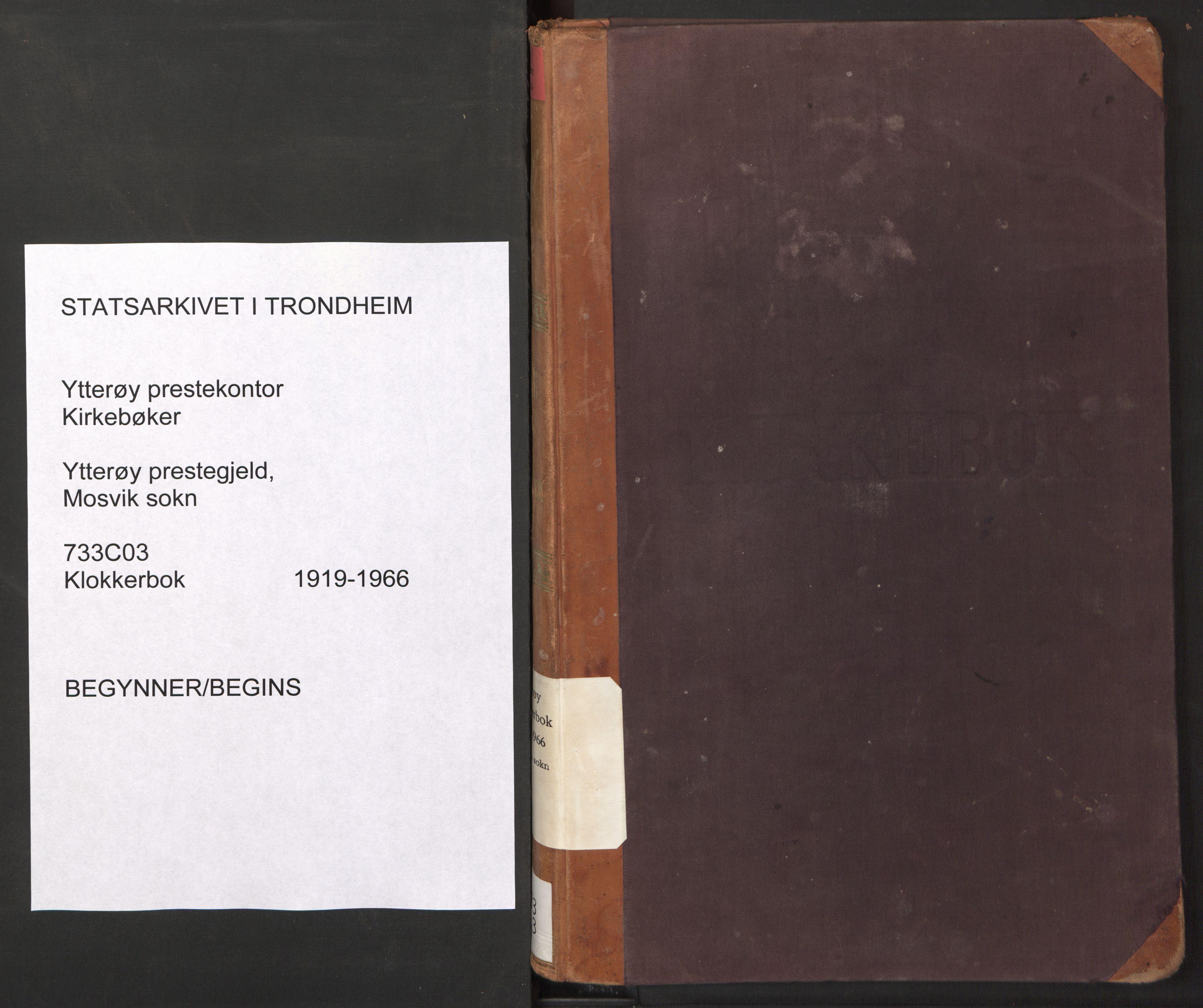 SAT, Ministerialprotokoller, klokkerbøker og fødselsregistre - Nord-Trøndelag, 733/L0328: Parish register (copy) no. 733C03, 1919-1966