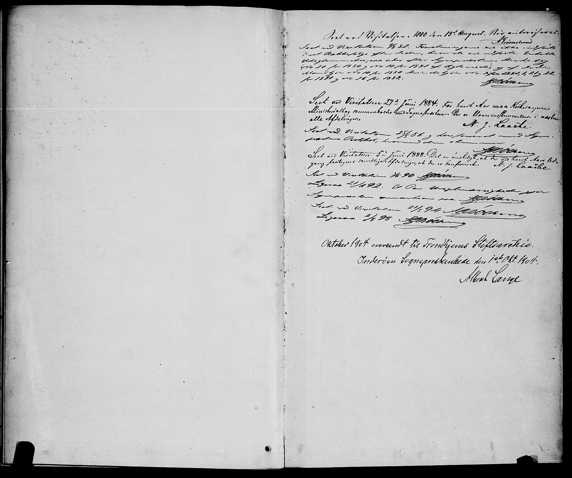 SAT, Ministerialprotokoller, klokkerbøker og fødselsregistre - Nord-Trøndelag, 730/L0301: Parish register (copy) no. 730C04, 1880-1897