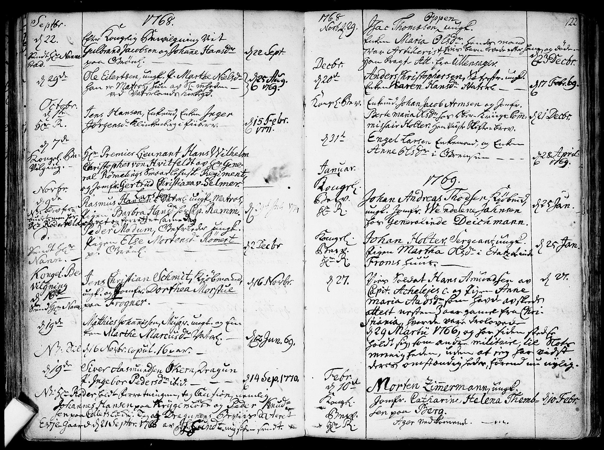SAO, Garnisonsmenigheten Kirkebøker, F/Fa/L0002: Parish register (official) no. 2, 1757-1776, p. 122
