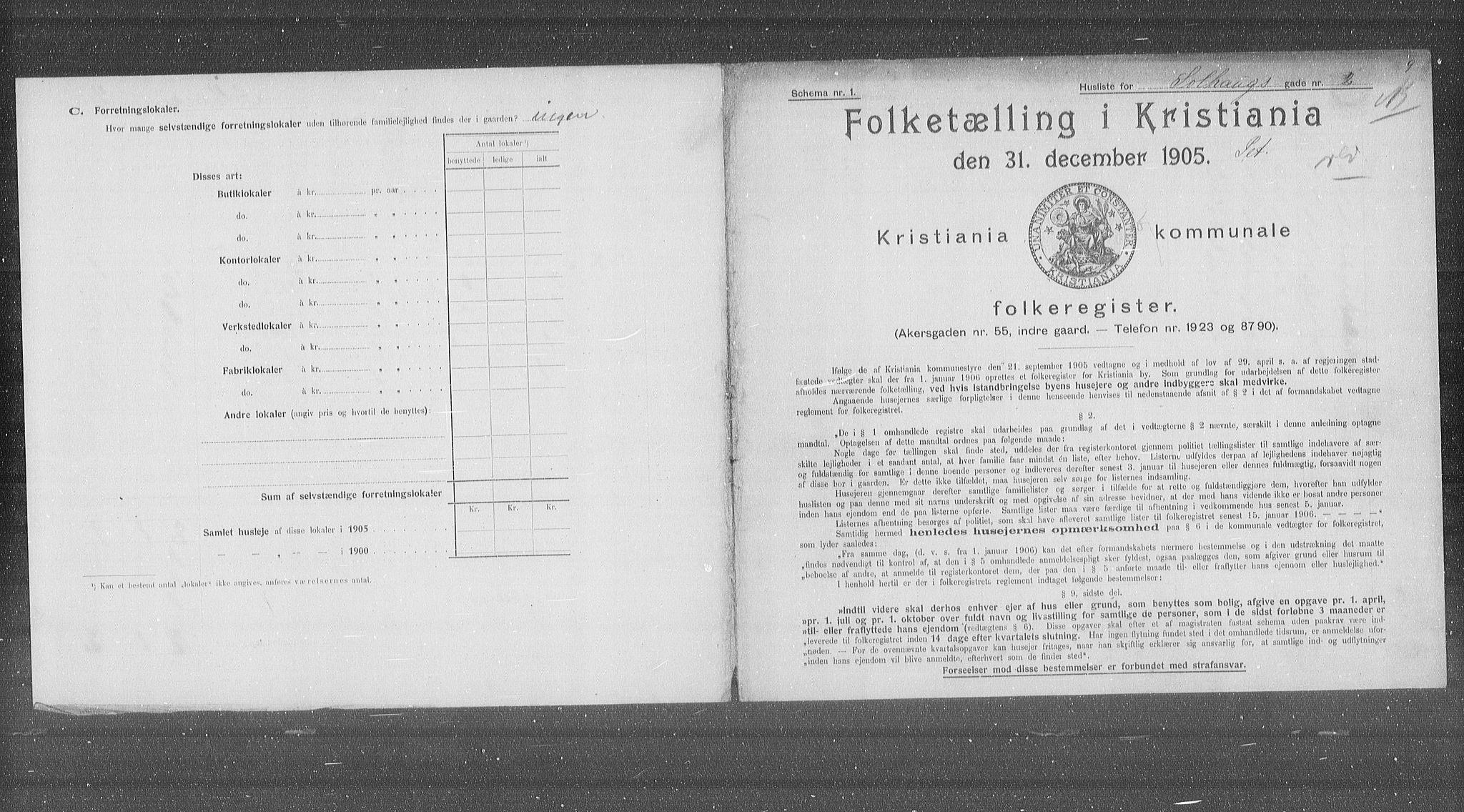 OBA, Municipal Census 1905 for Kristiania, 1905, p. 51563