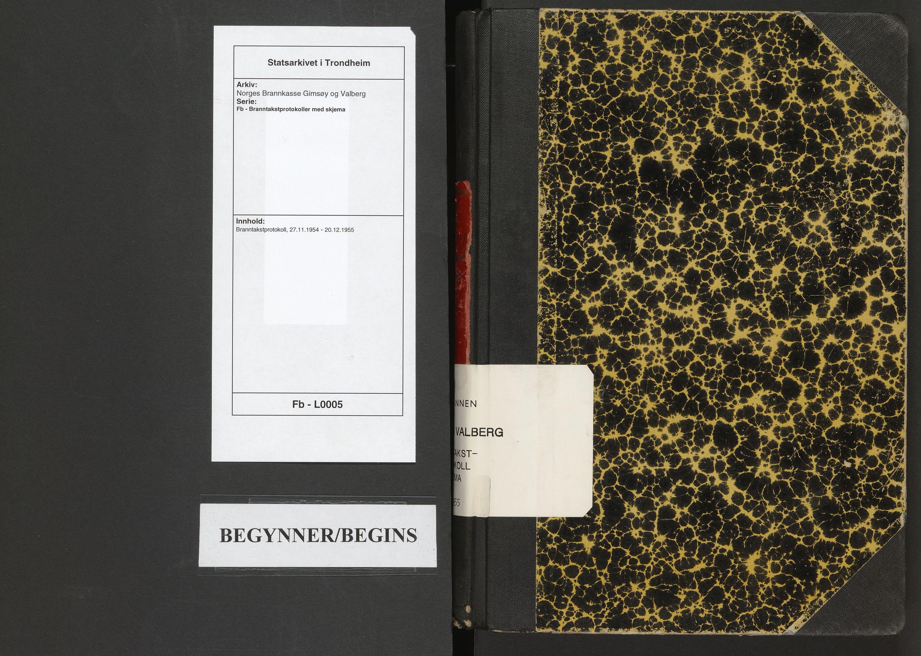 SAT, Norges Brannkasse Gimsøy og Valberg, Fb/L0005: Branntakstprotokoll, 1954-1955