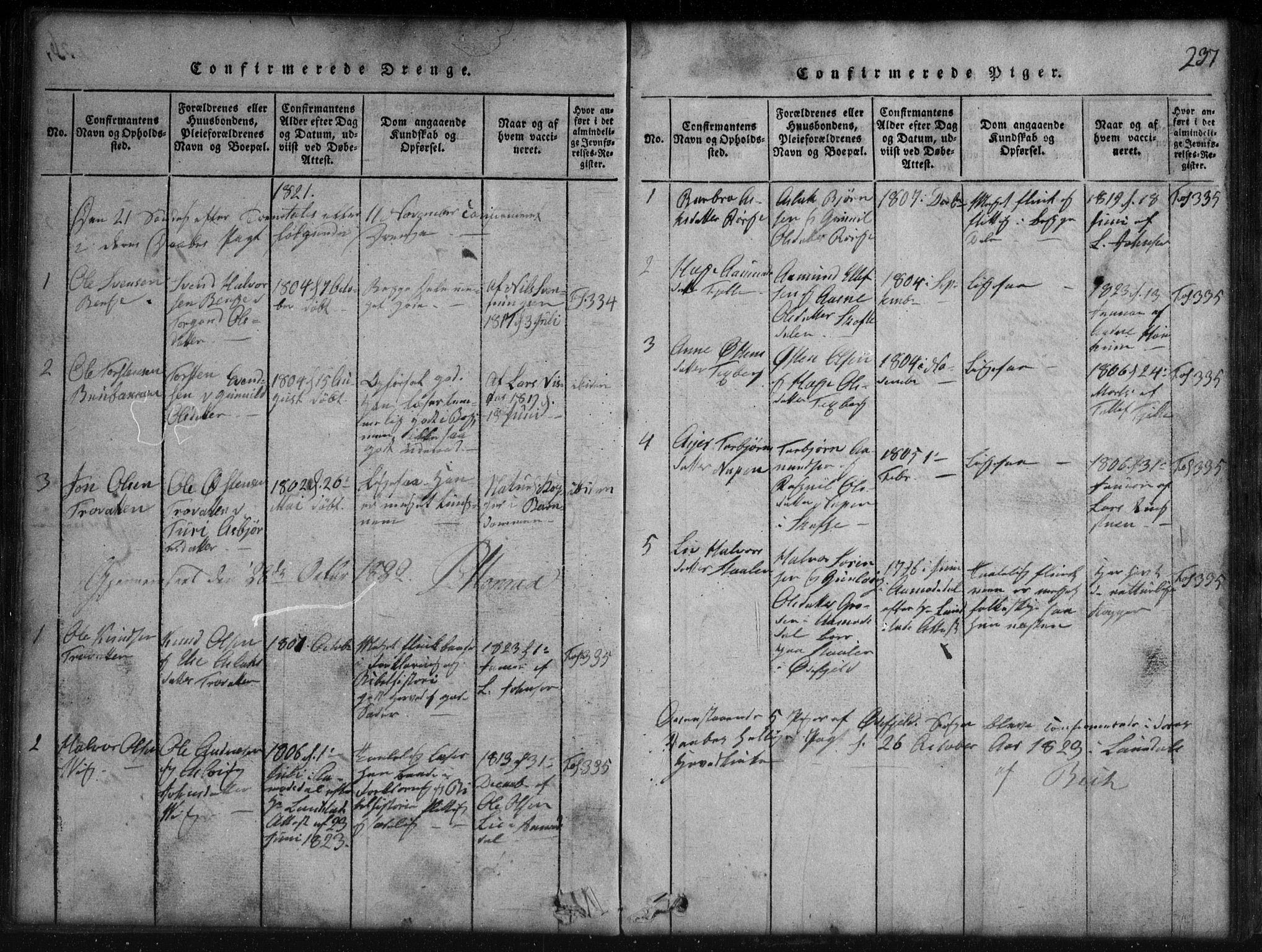 SAKO, Rauland kirkebøker, G/Gb/L0001: Parish register (copy) no. II 1, 1815-1886, p. 237